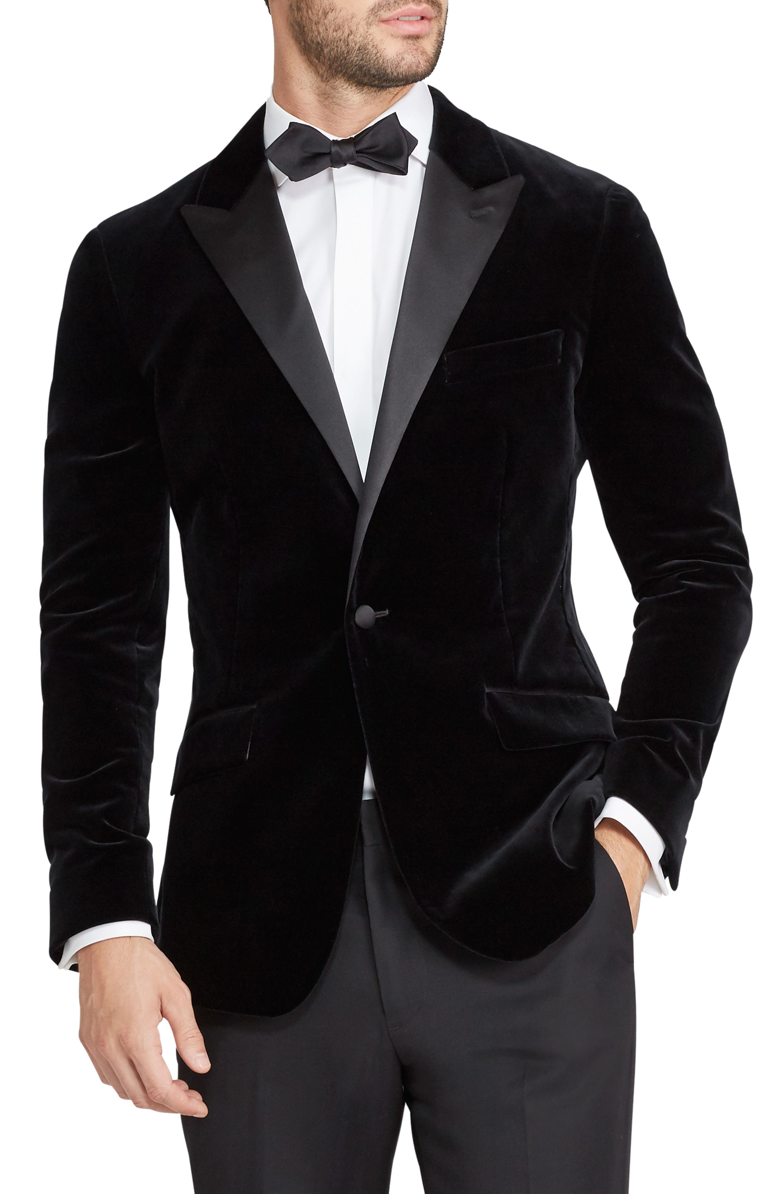 Bonobos Jetsetter Trim Fit Stretch Velvet Dinner Jacket
