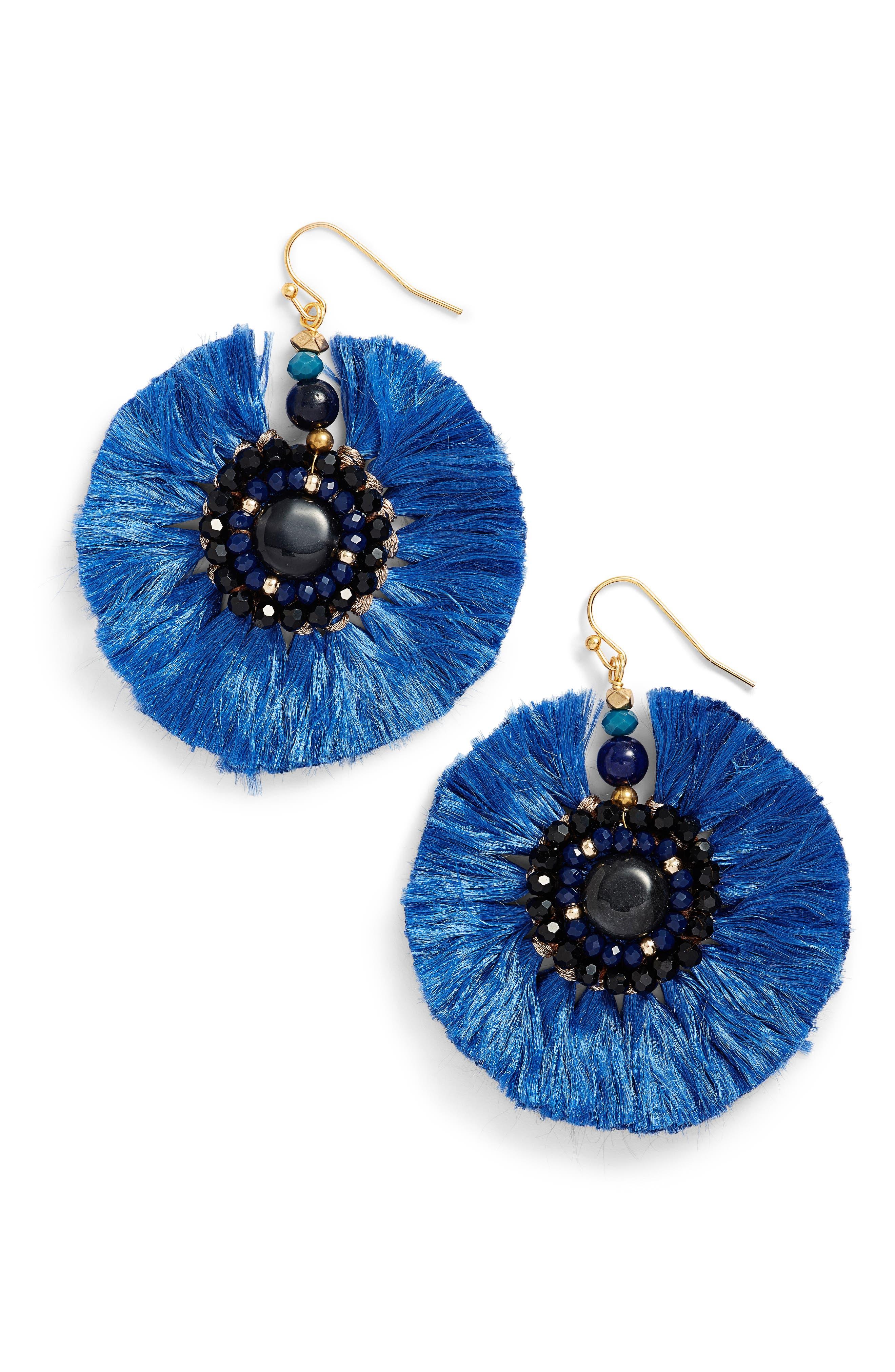 Nakamol Design Beaded Fan Earrings