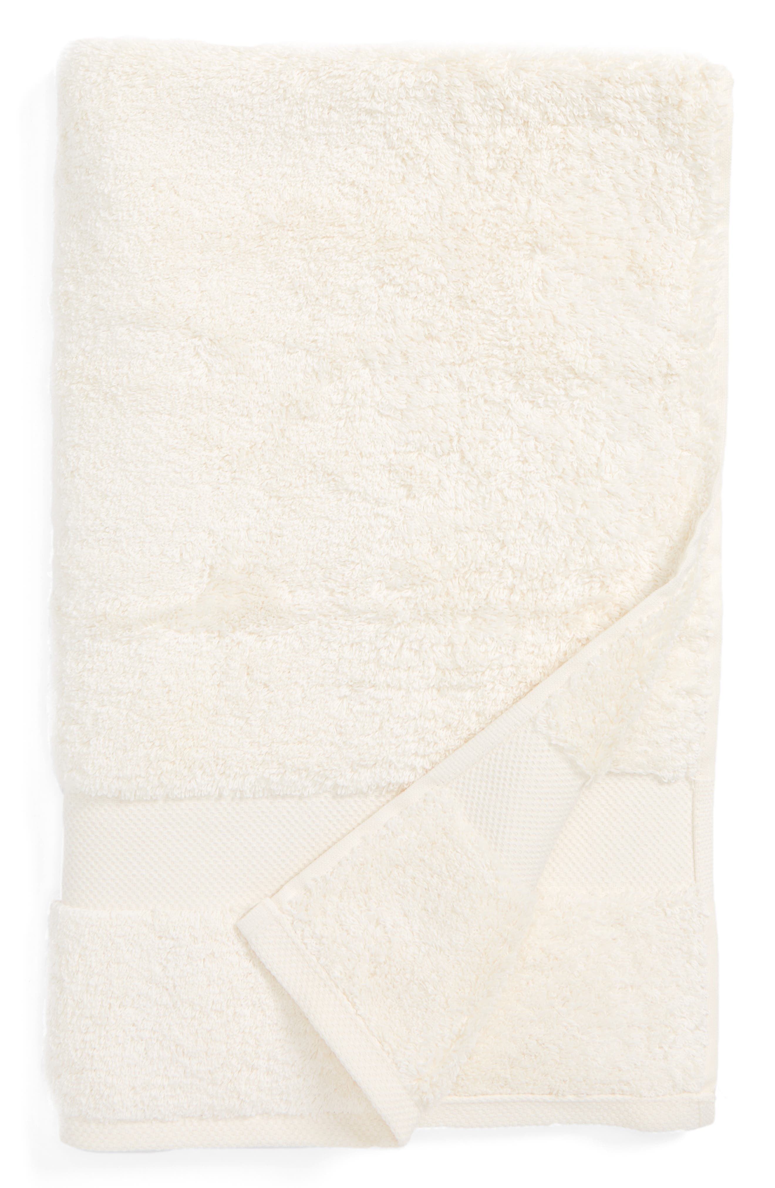 Lotus Hand Towel,                         Main,                         color, Ivory