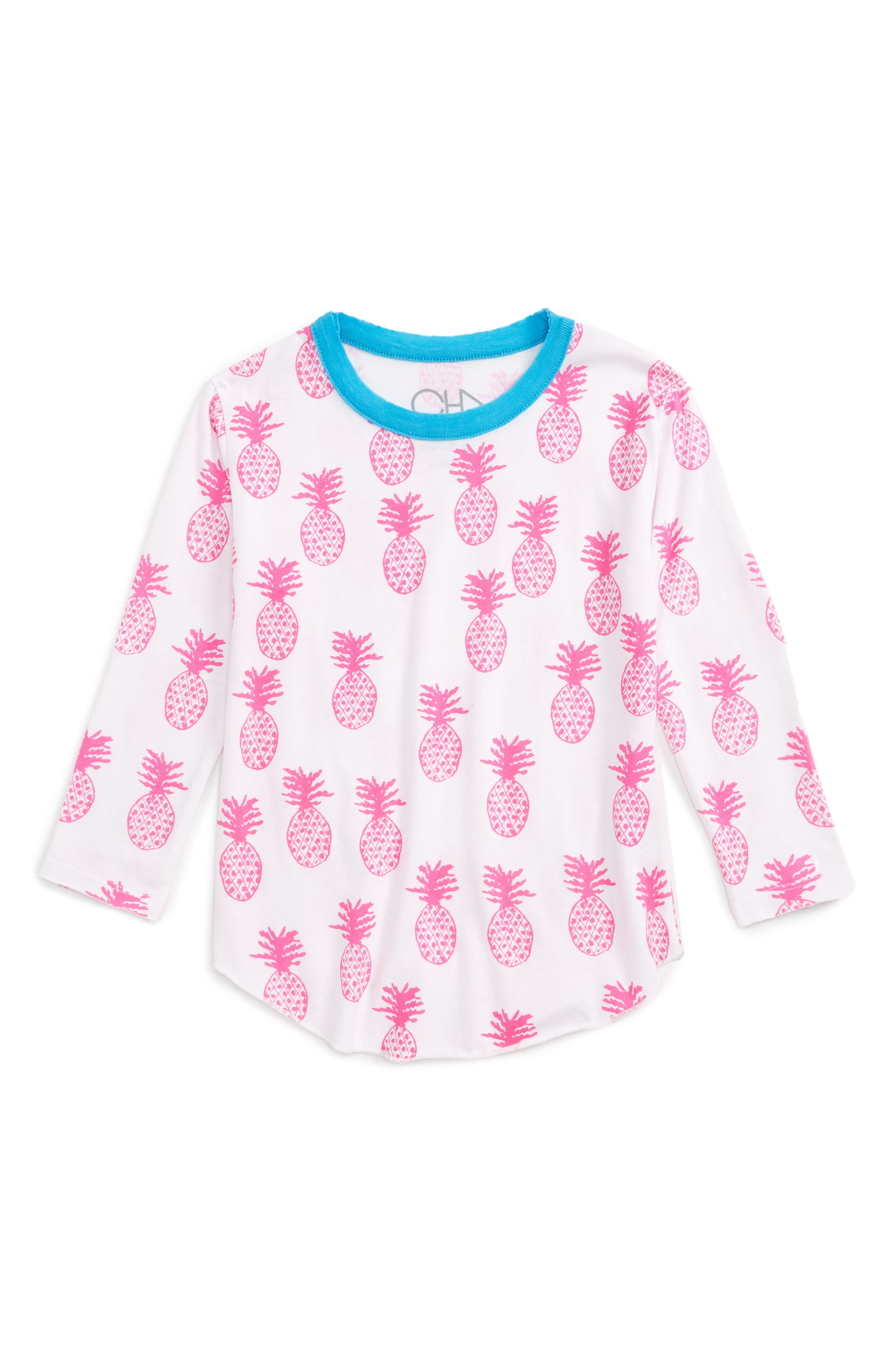 Chaser Pineapple Print Tee (Toddler Girls & Little Girls)
