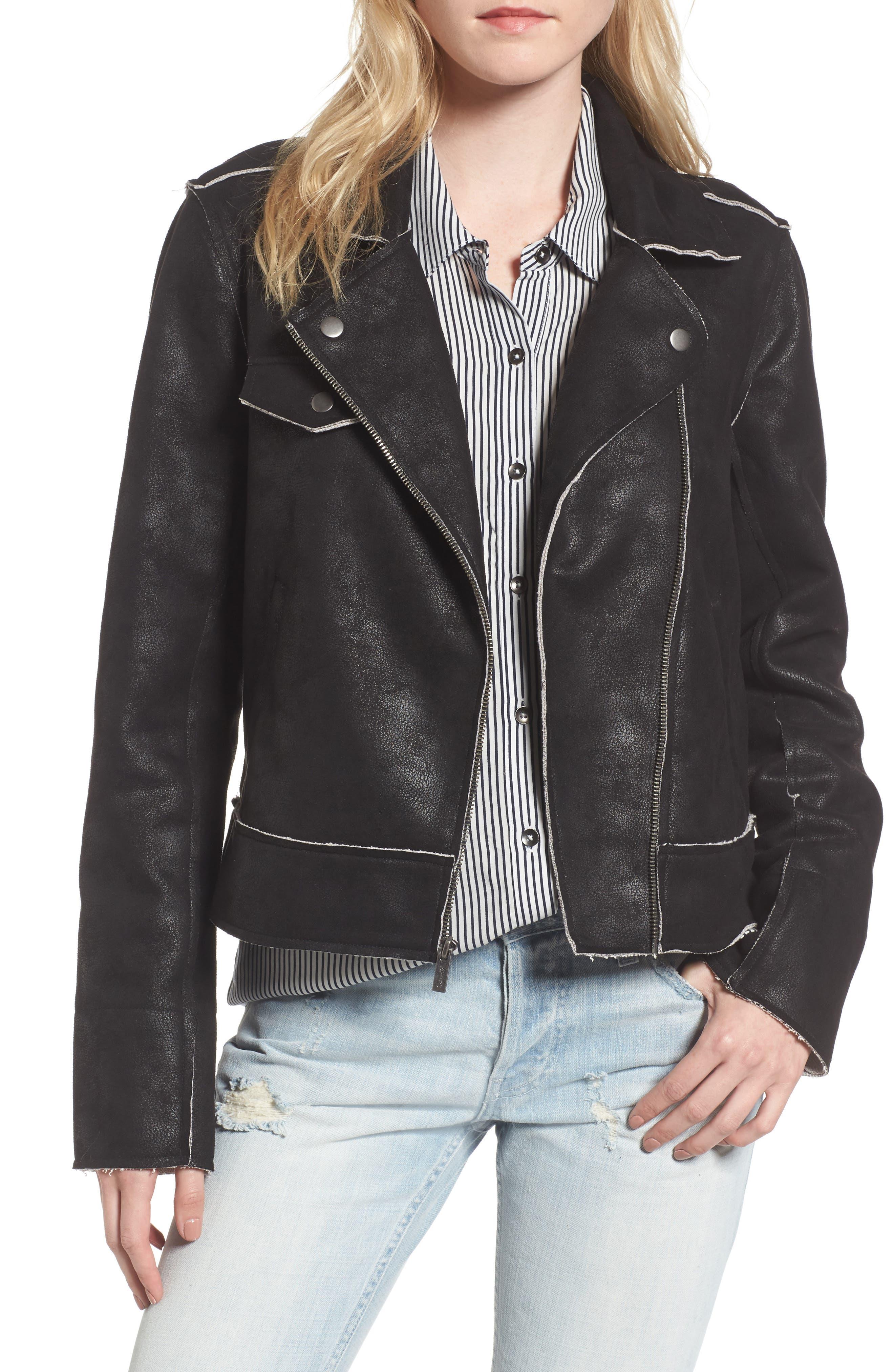 Splendid Faux Leather Moto Jacket