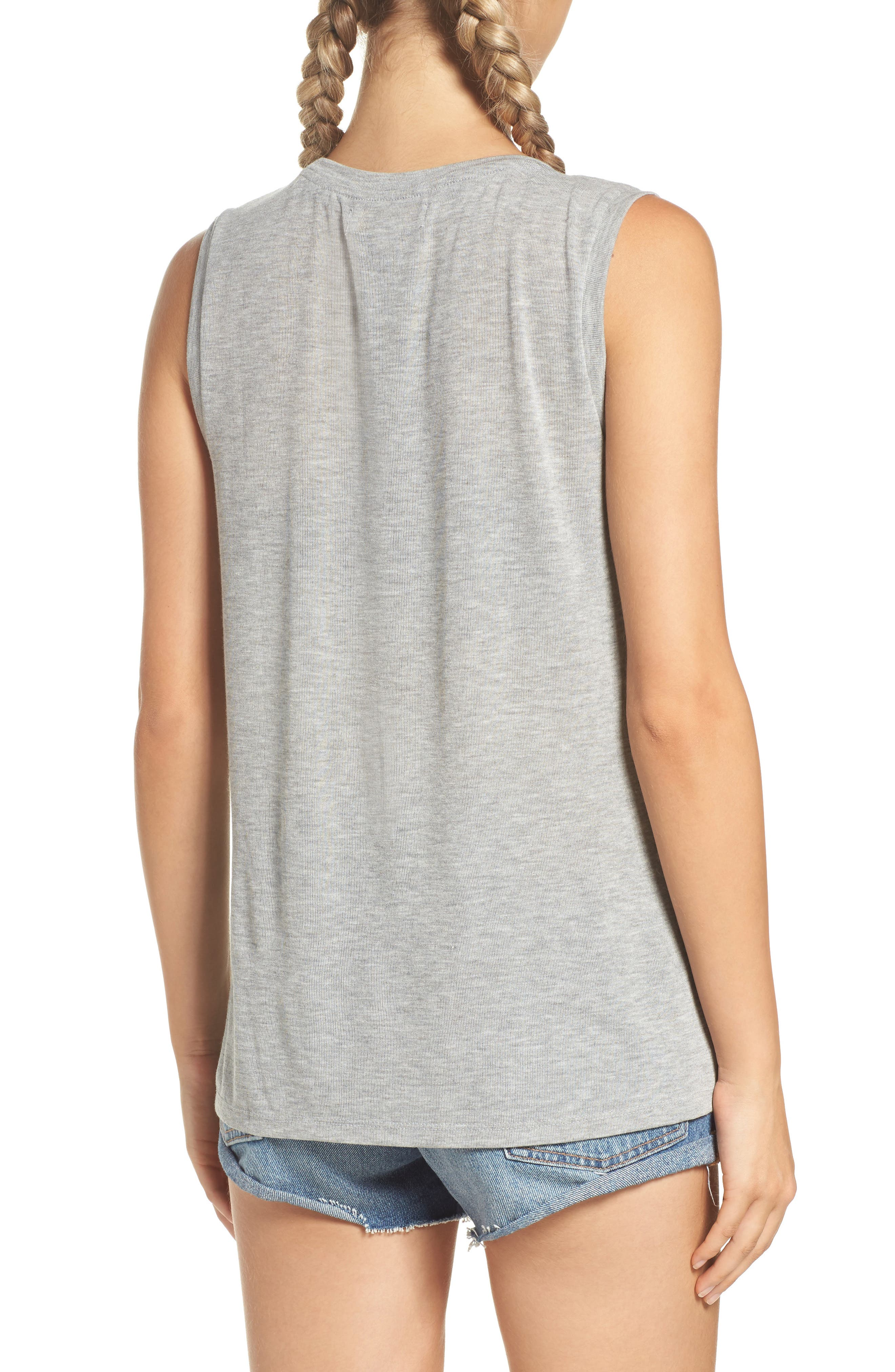 Trust Your Soul Muscle Tee,                             Alternate thumbnail 2, color,                             Heather Grey