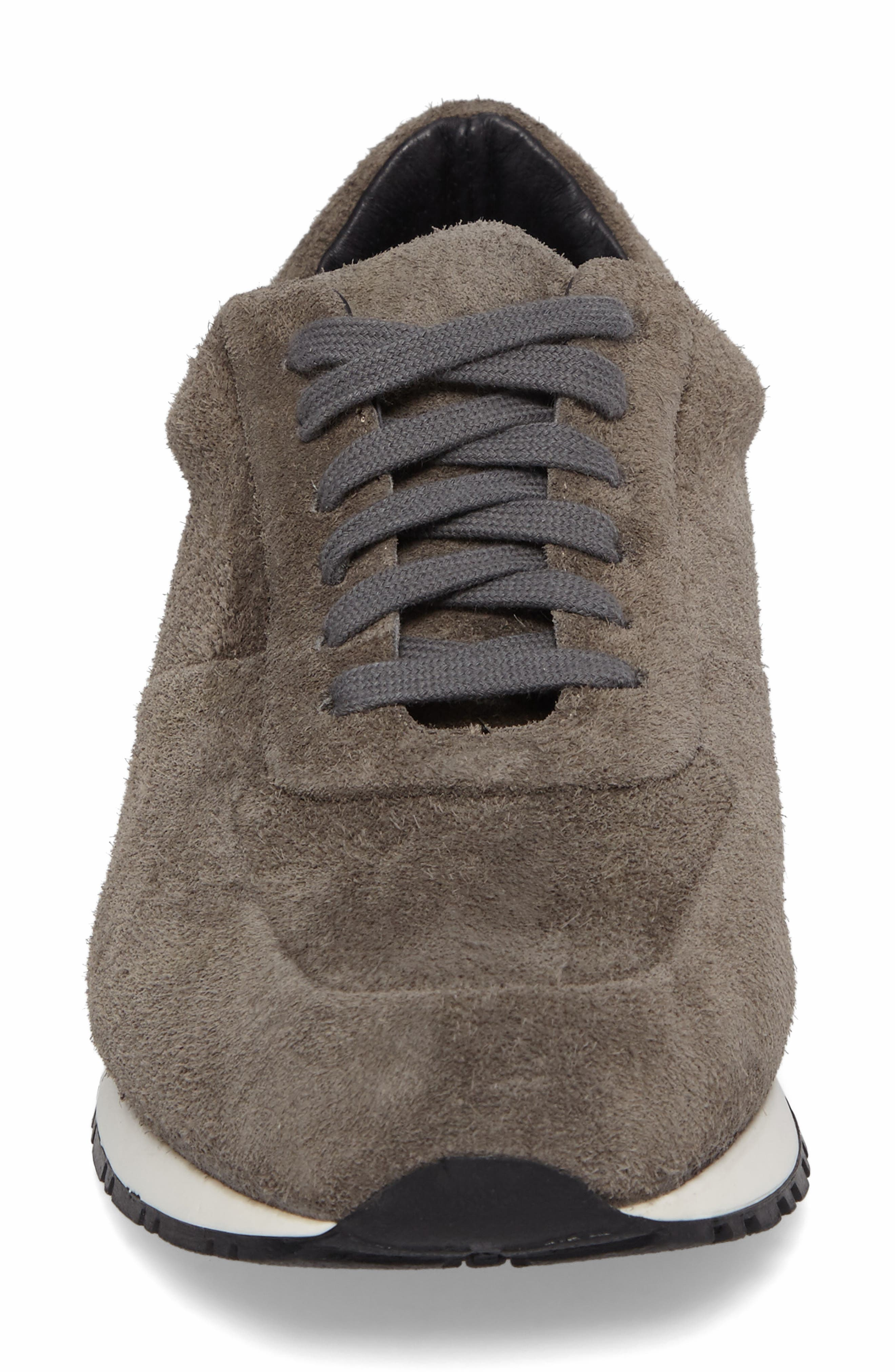 Hairy Sneaker,                             Alternate thumbnail 4, color,                             Grey Suede