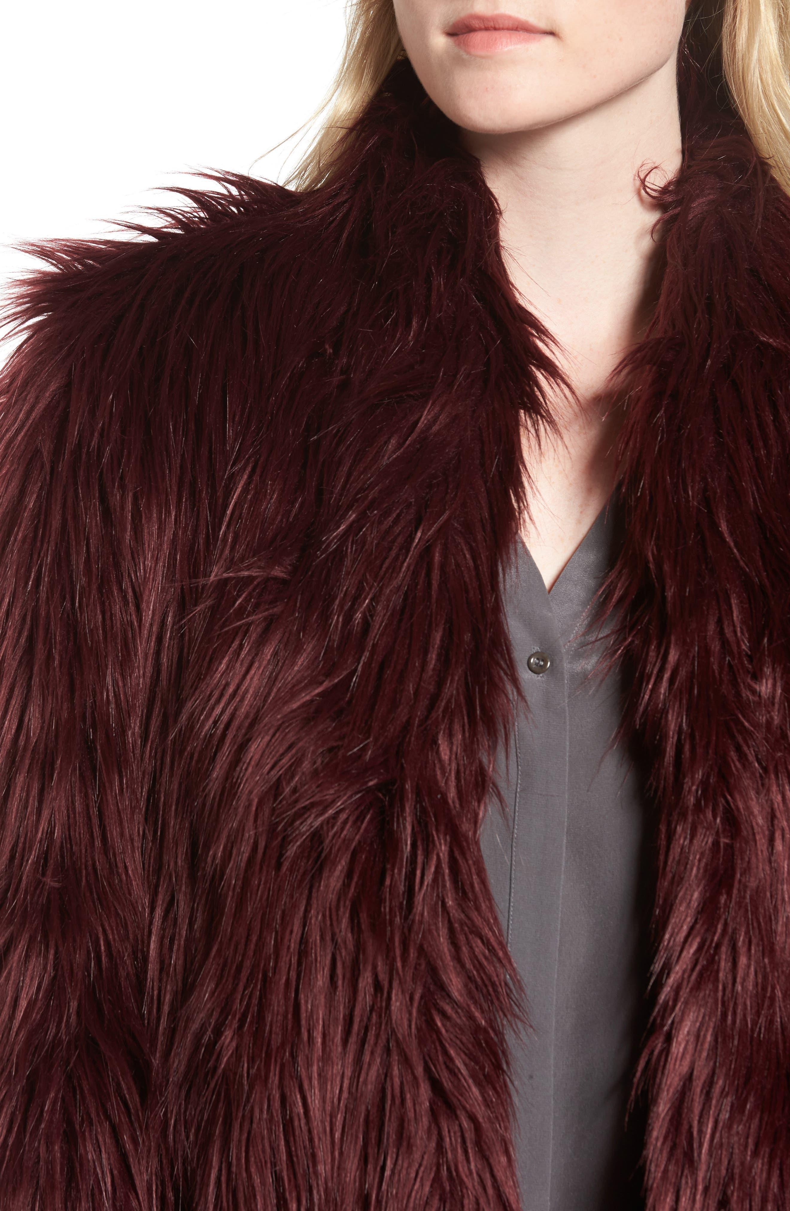 Alternate Image 4  - Chelsea28 Faux Fur Jacket
