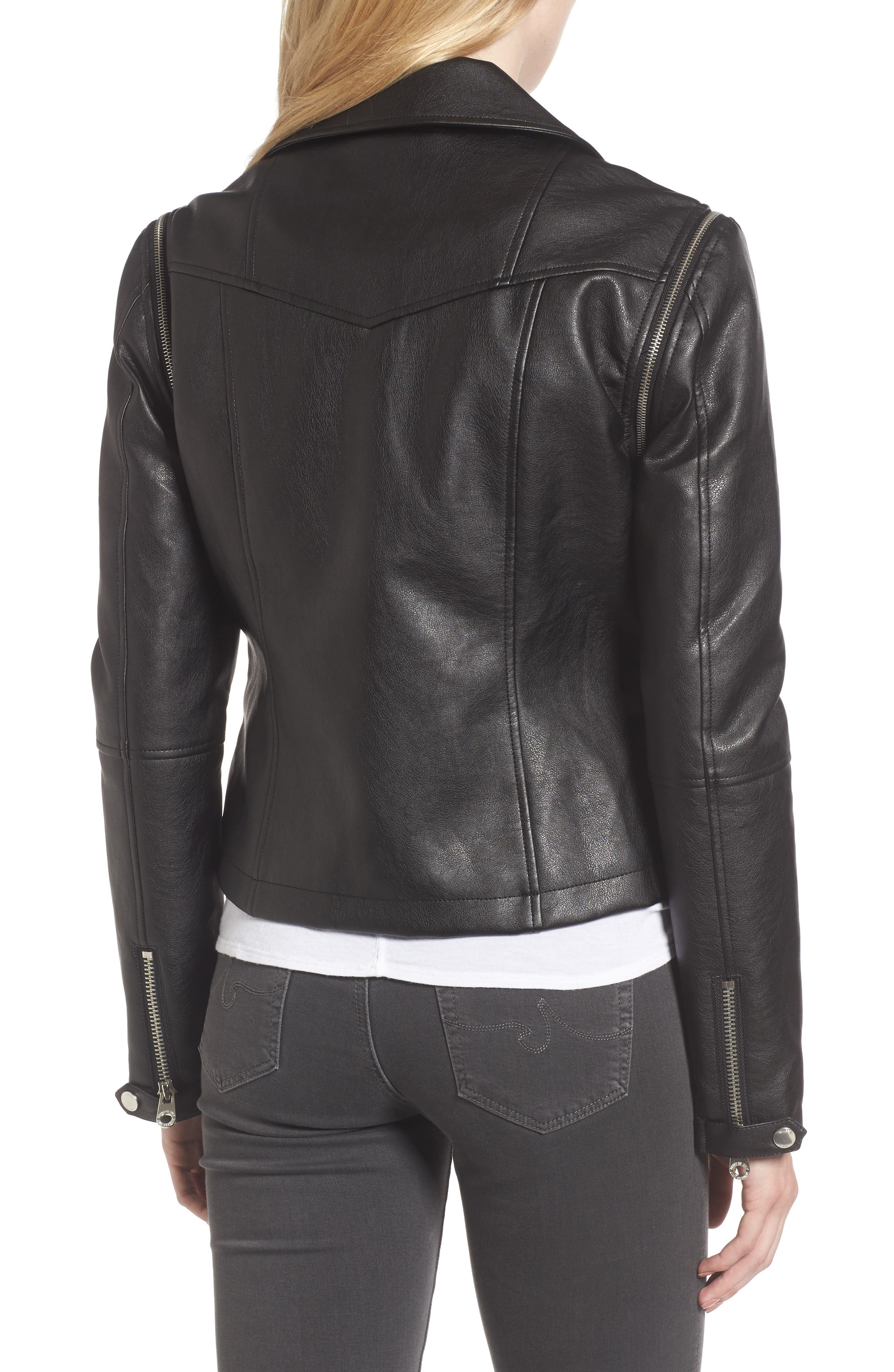 Alternate Image 2  - Members Only Faux Leather Biker Jacket