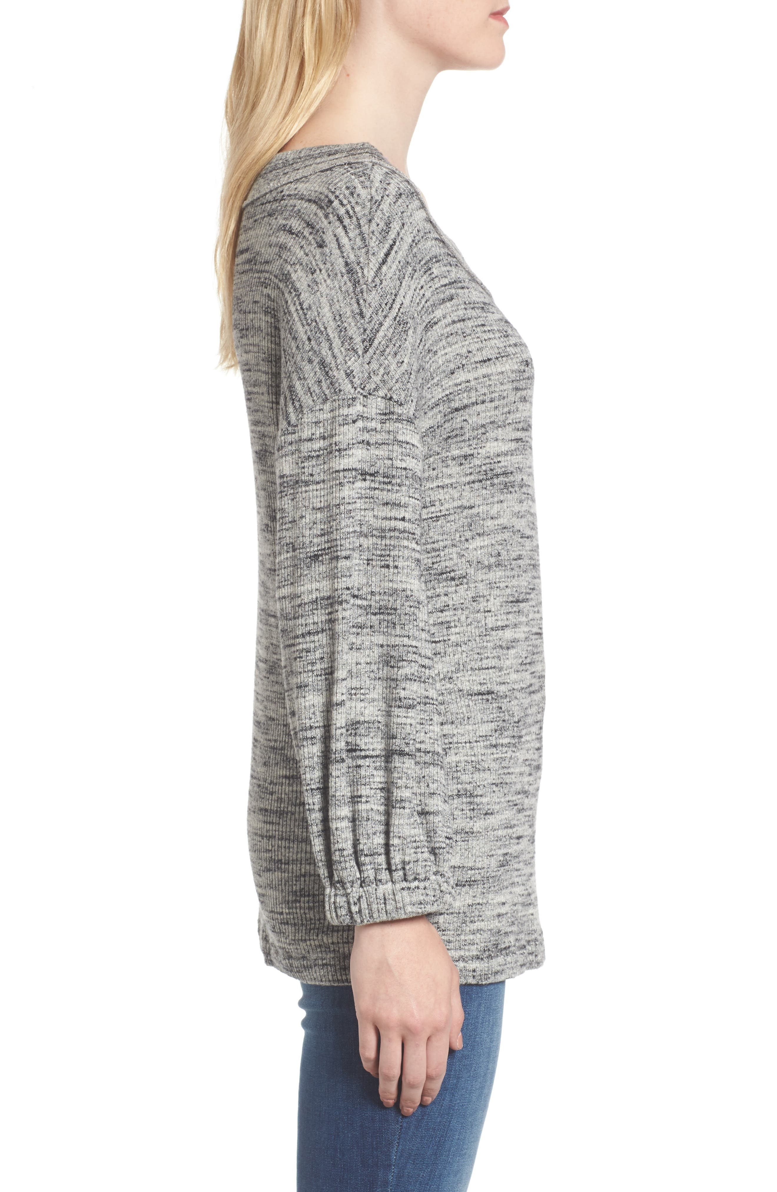 Triblend Ribbed Top,                             Alternate thumbnail 3, color,                             Heather Grey