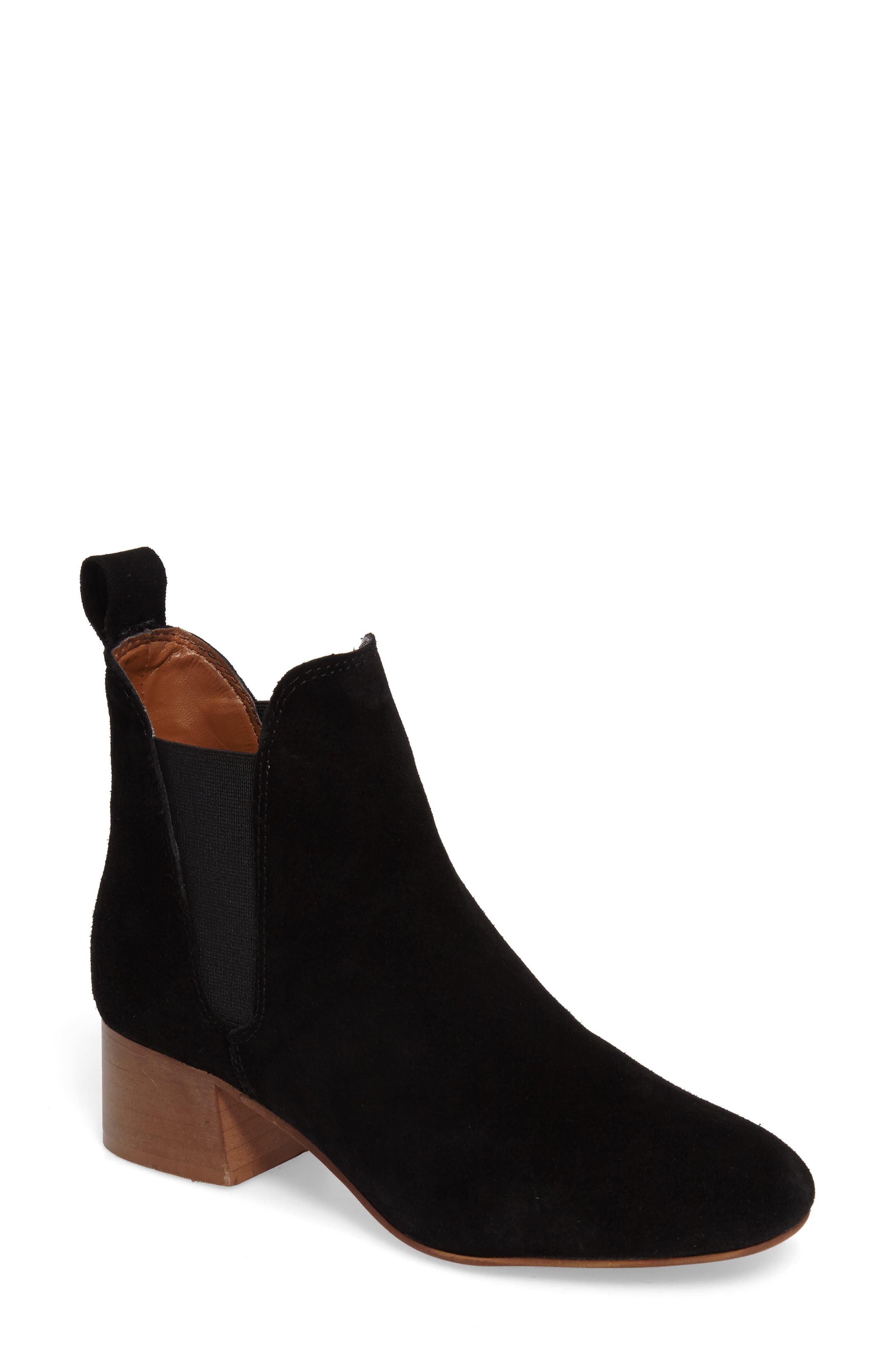 Barley Chelsea Boot,                             Main thumbnail 1, color,                             Black