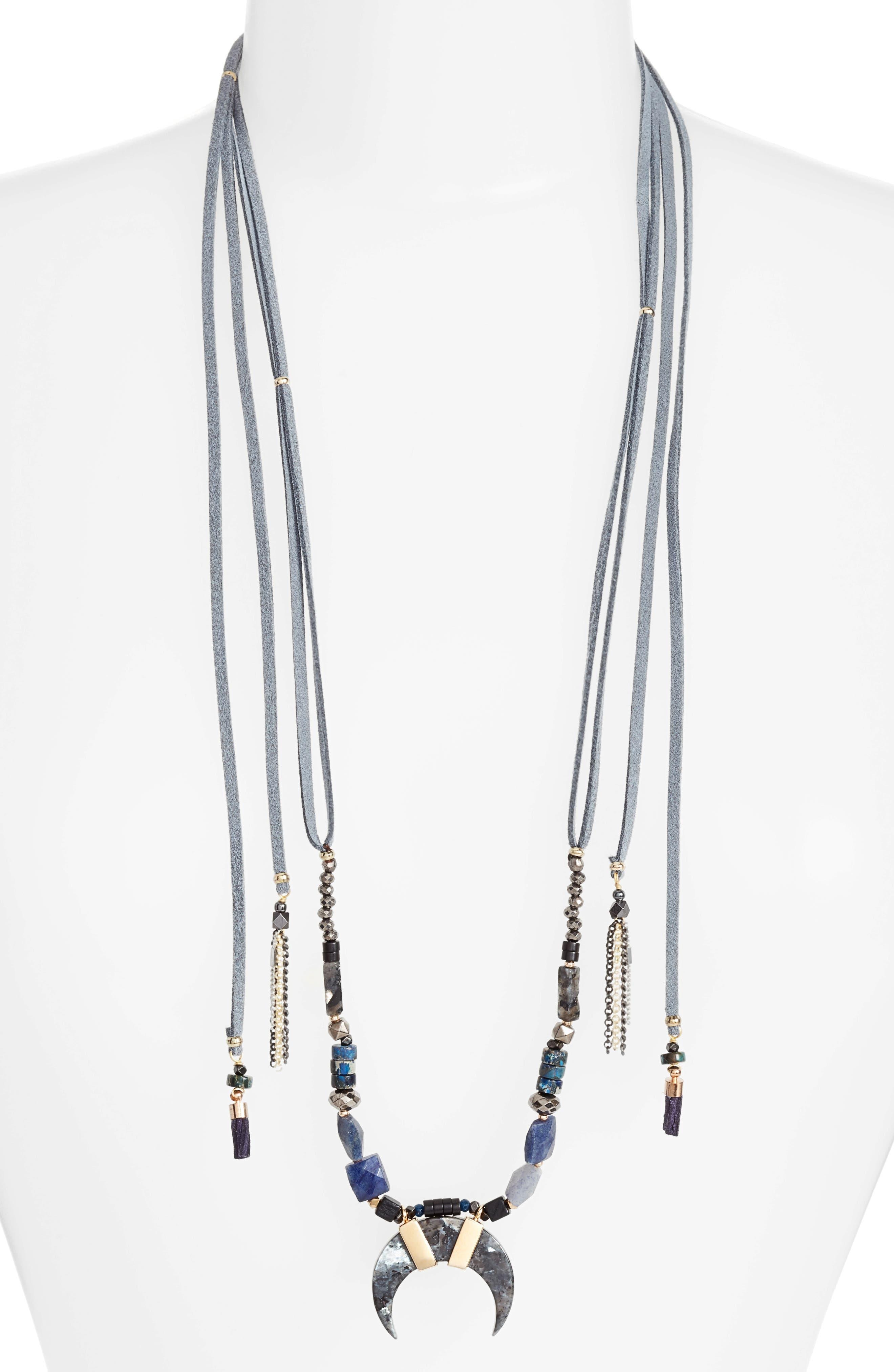 Main Image - Nakamol Design Umangi Lariat Necklace with Agate Pendant