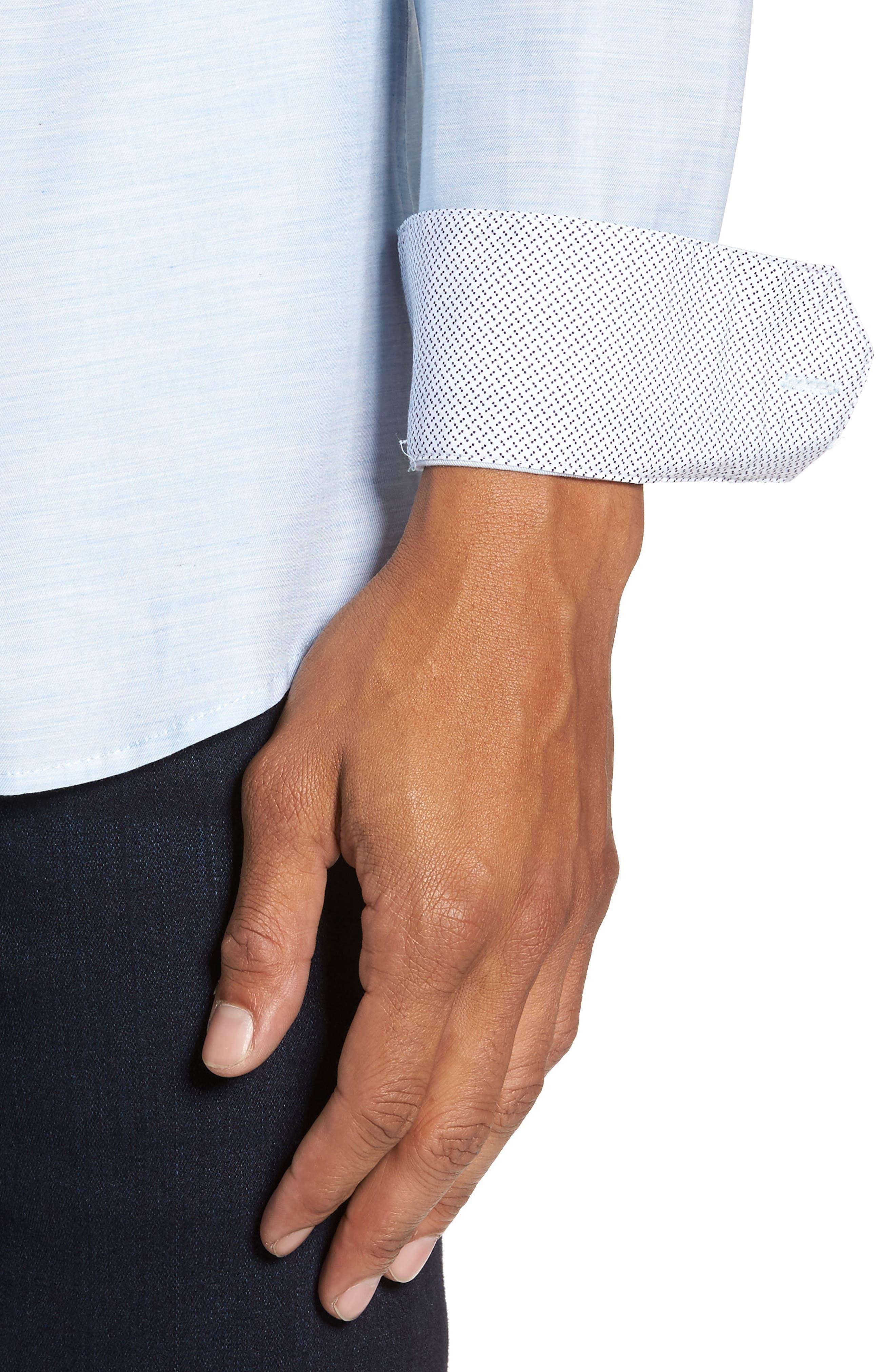 Alternate Image 4  - Ted Baker London Annisley Modern Slim Fit Sport Shirt