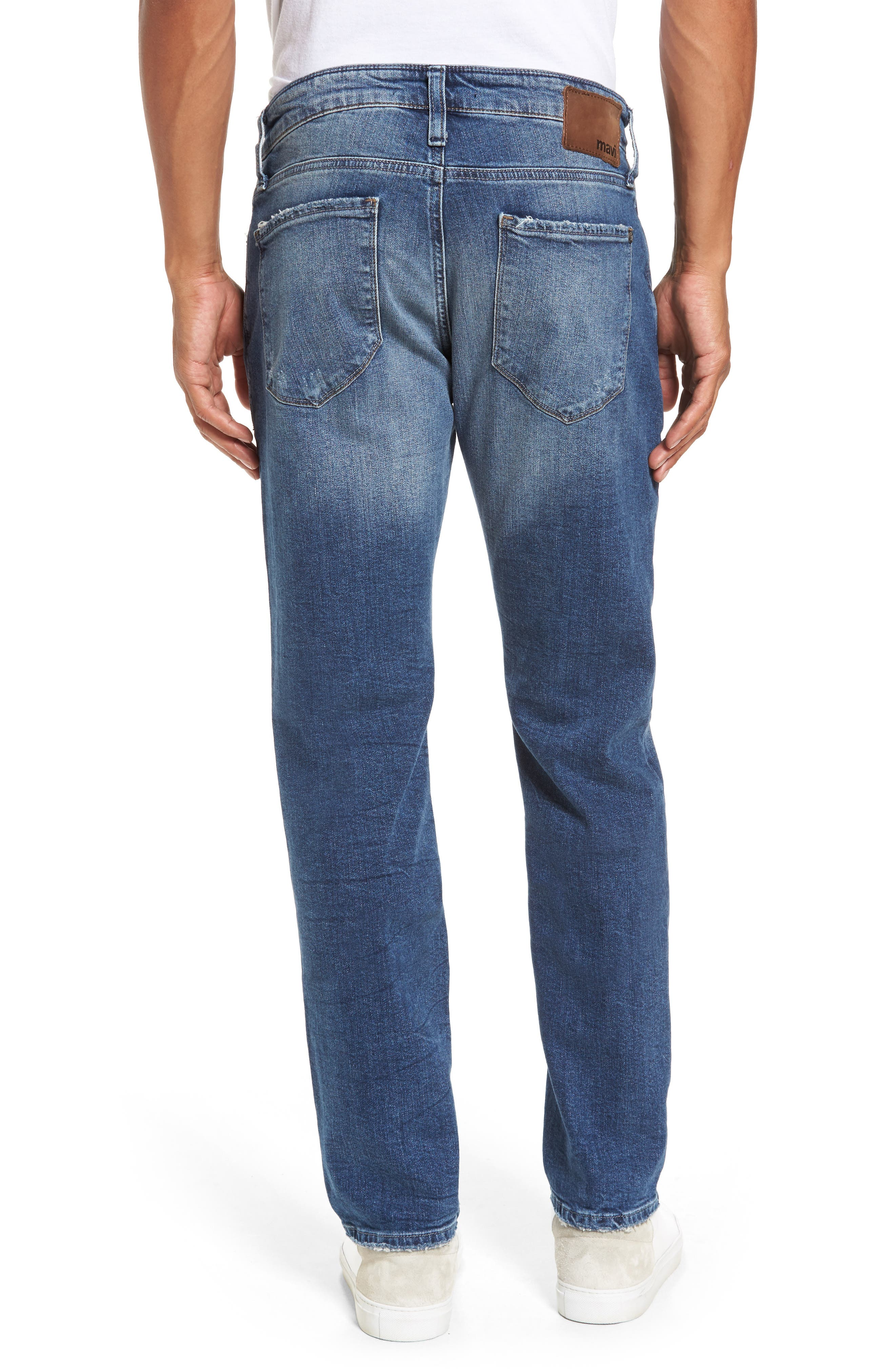 Alternate Image 2  - Mavi Jeans Marcus Slim Straight Leg Jeans (Destroyed Authentic Vintage)