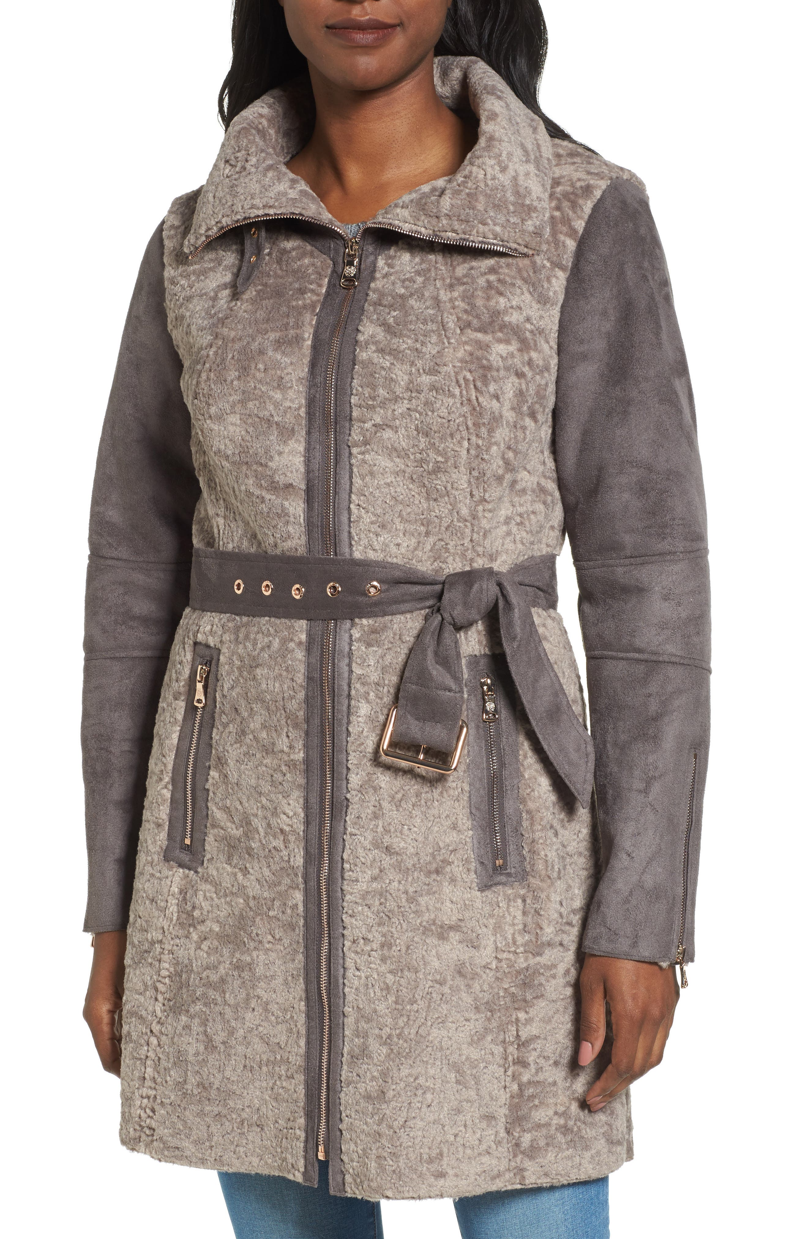 Vince Camuto Faux Shearling Coat