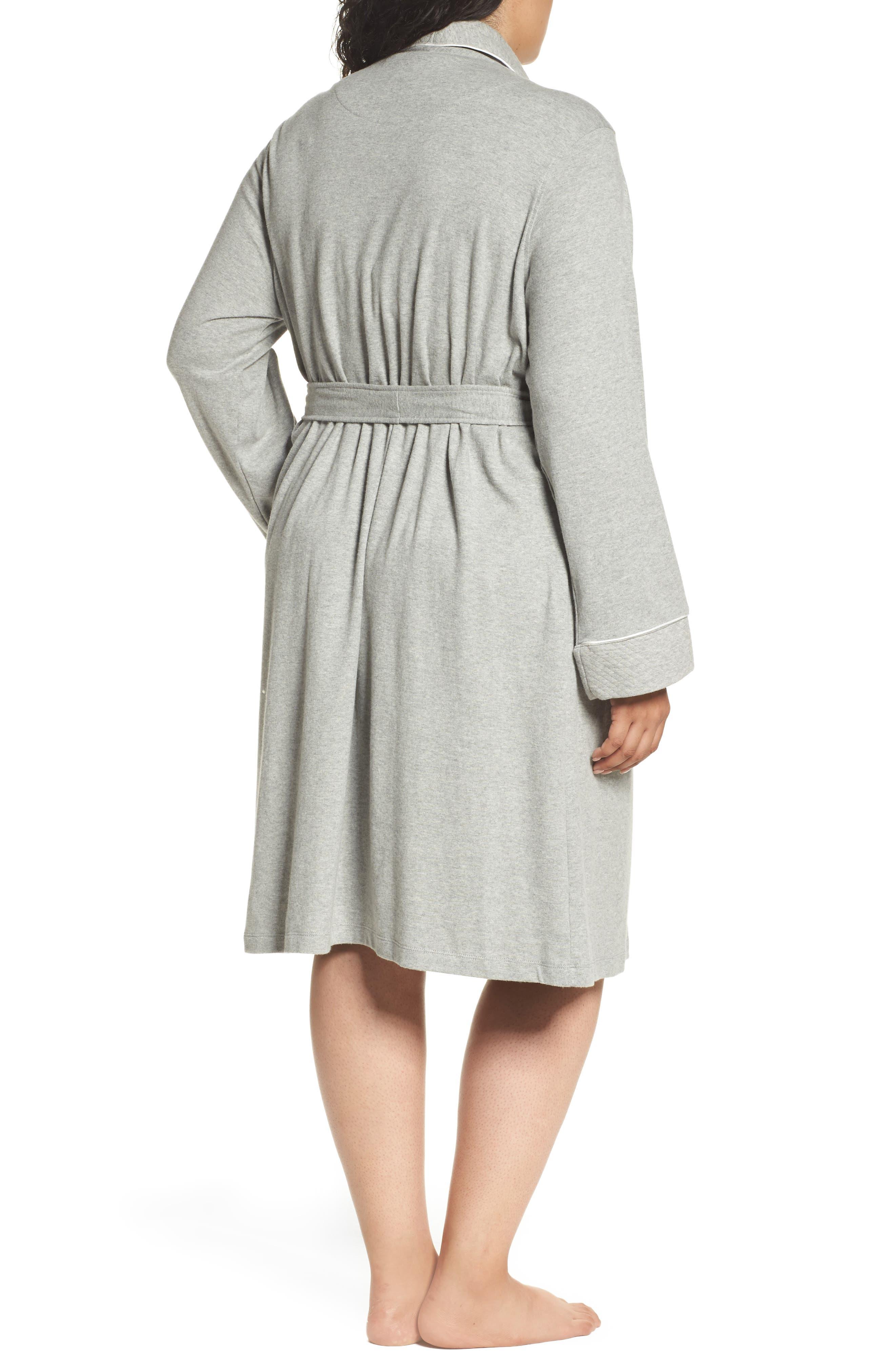Alternate Image 2  - Lauren Ralph Lauren Shawl Collar Robe (Plus Size) (Online Only)
