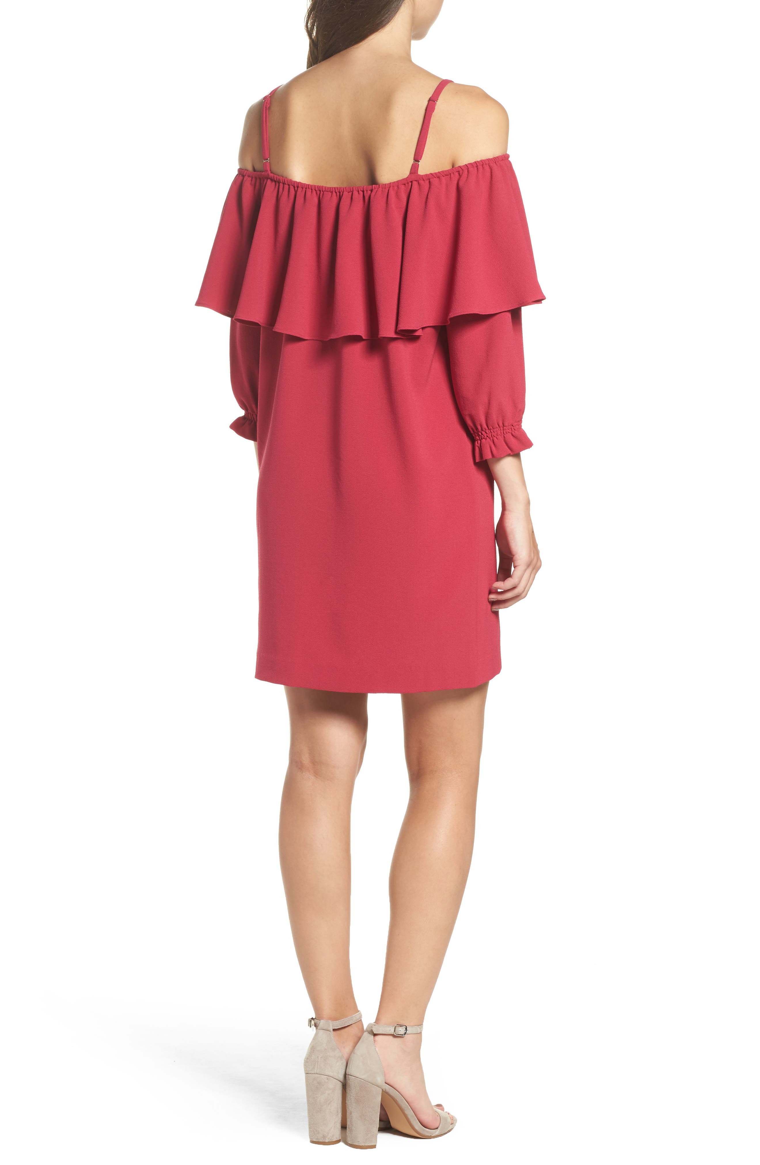 Alternate Image 2  - Felicity & Coco Meadow Ruffle Cold Shoulder Shift Dress (Nordstrom Exclusive)