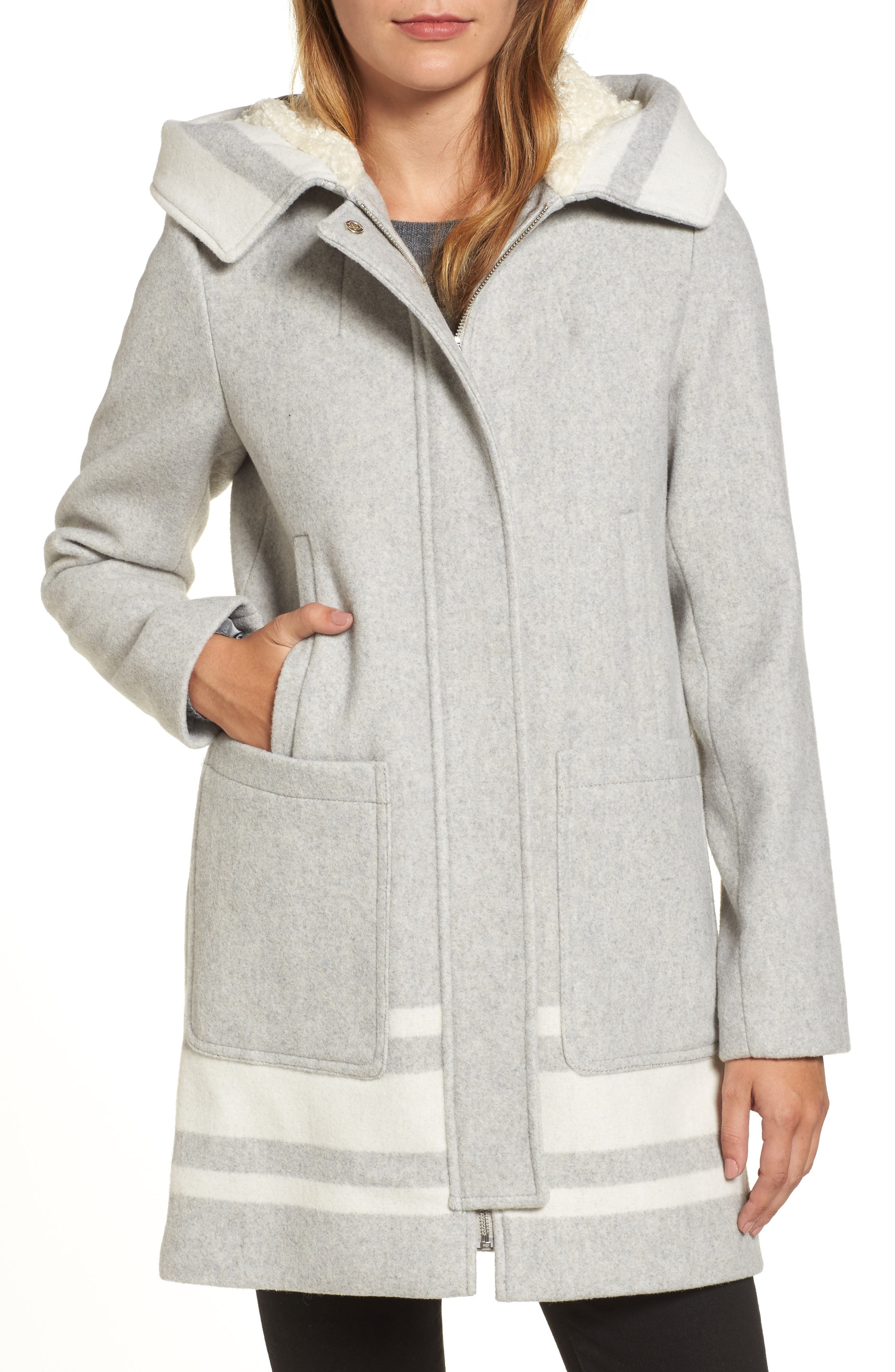 Alternate Image 1 Selected - Vince Camuto Hooded Car Coat