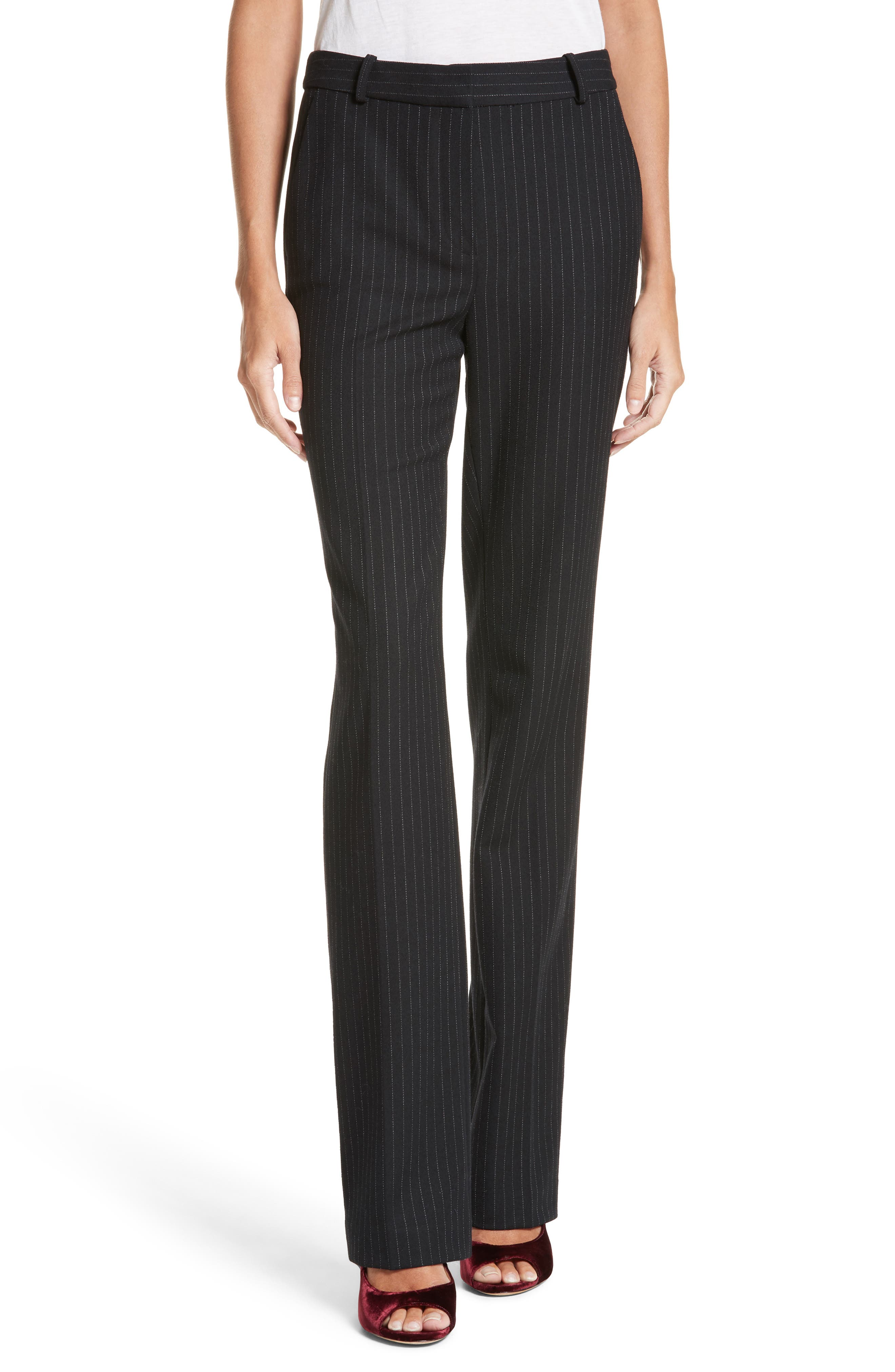 Alternate Image 1 Selected - Rebecca Taylor Pinstripe Pants