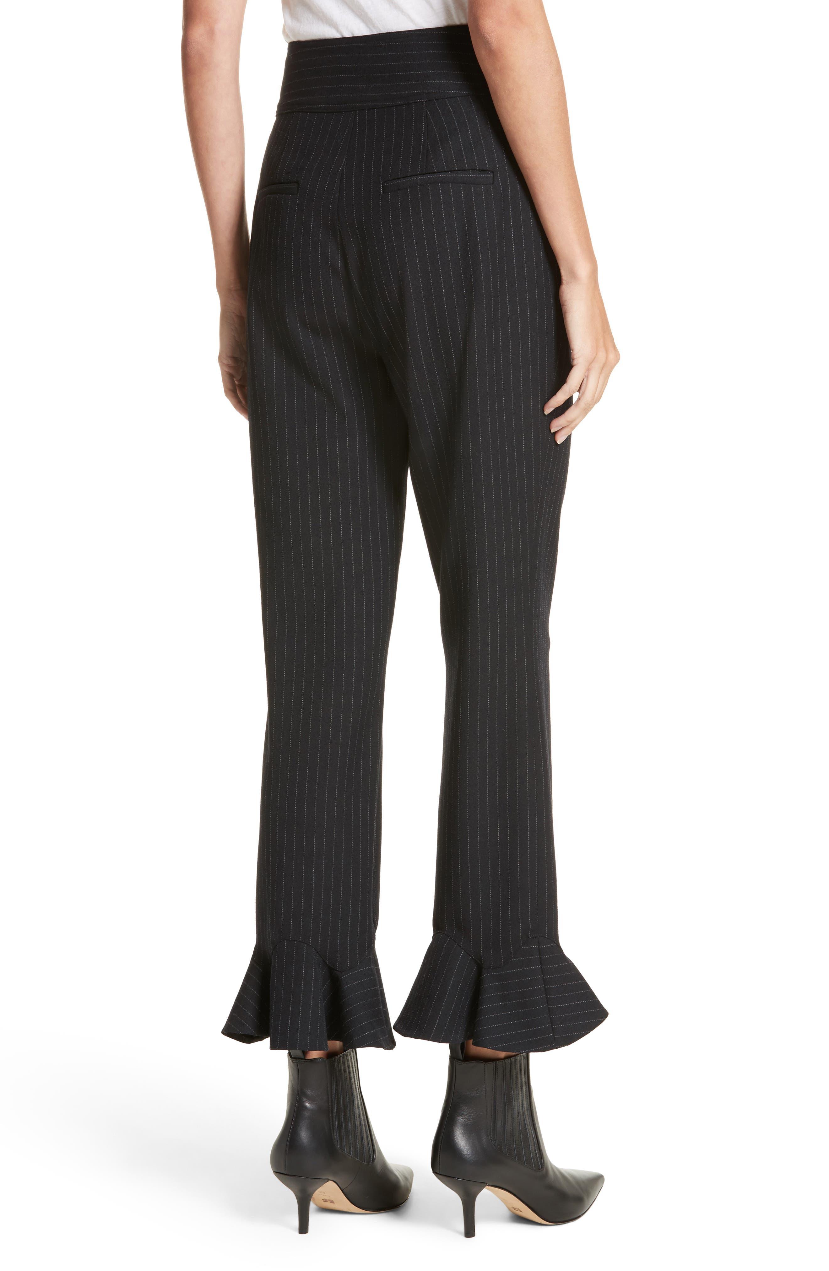 Alternate Image 2  - Rebecca Taylor Pinstripe Ruffle Pants