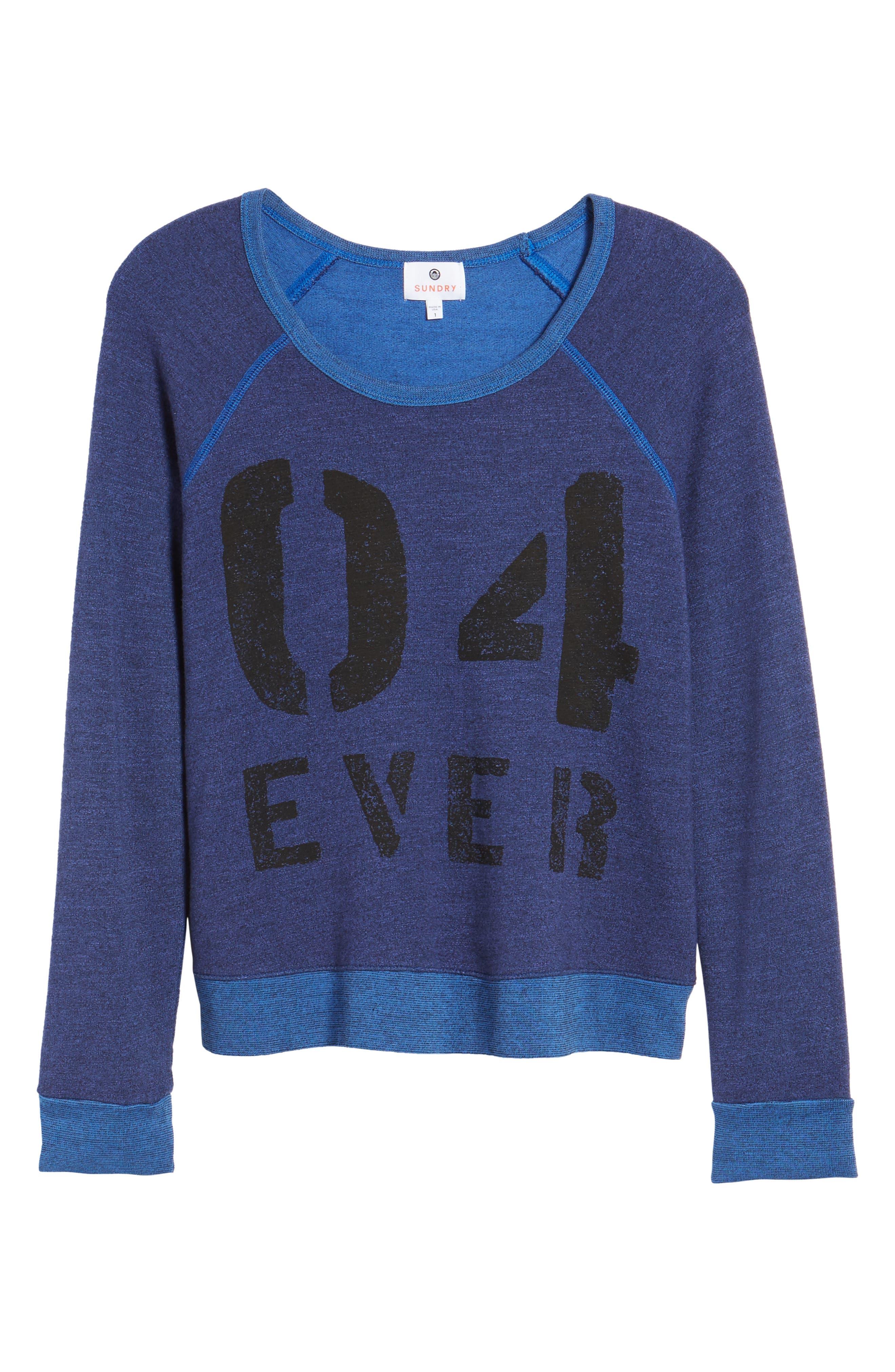 Alternate Image 6  - Sundry Love Forever Sweatshirt