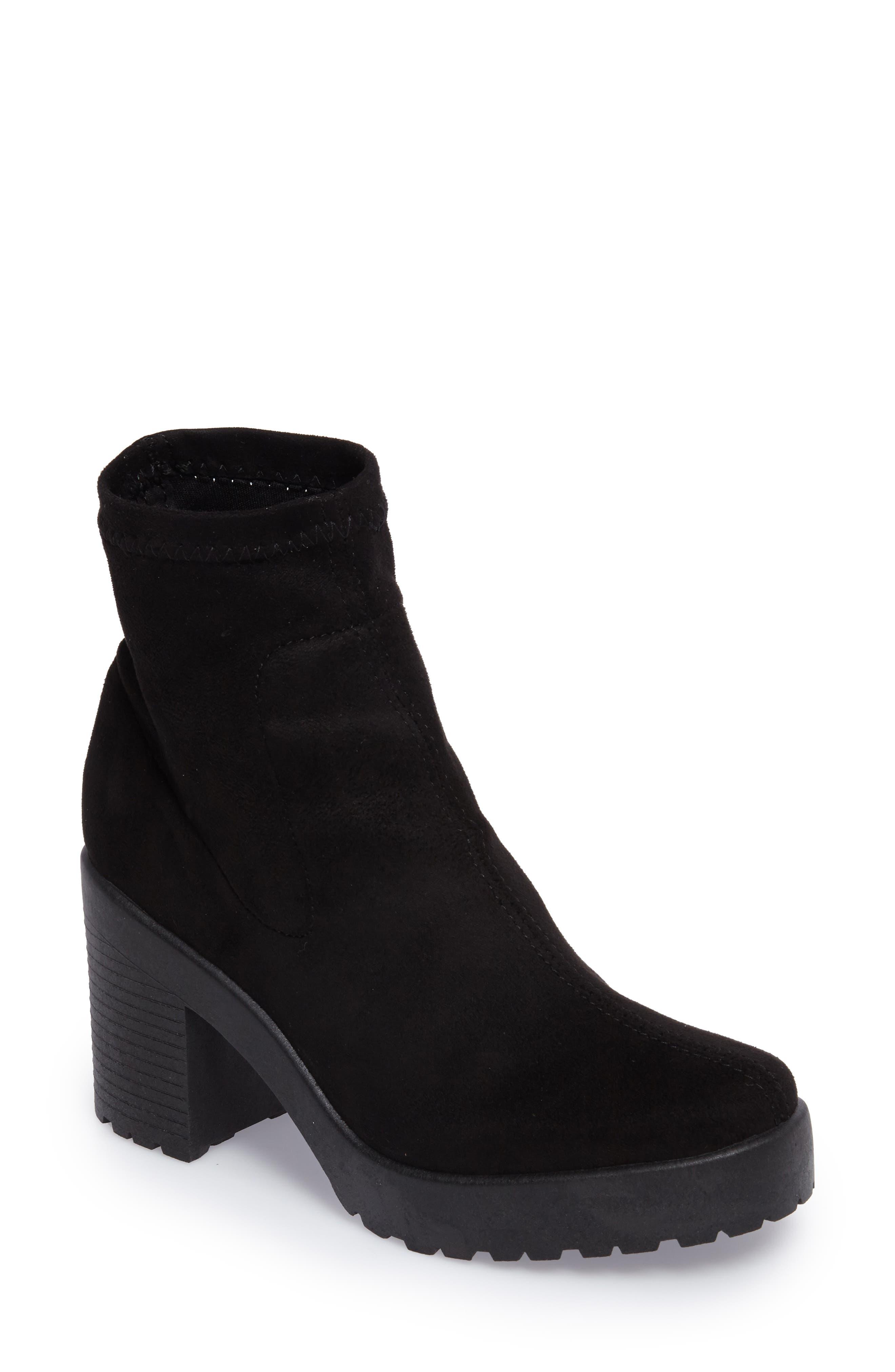 Topshop Brick Sock Boot (Women)