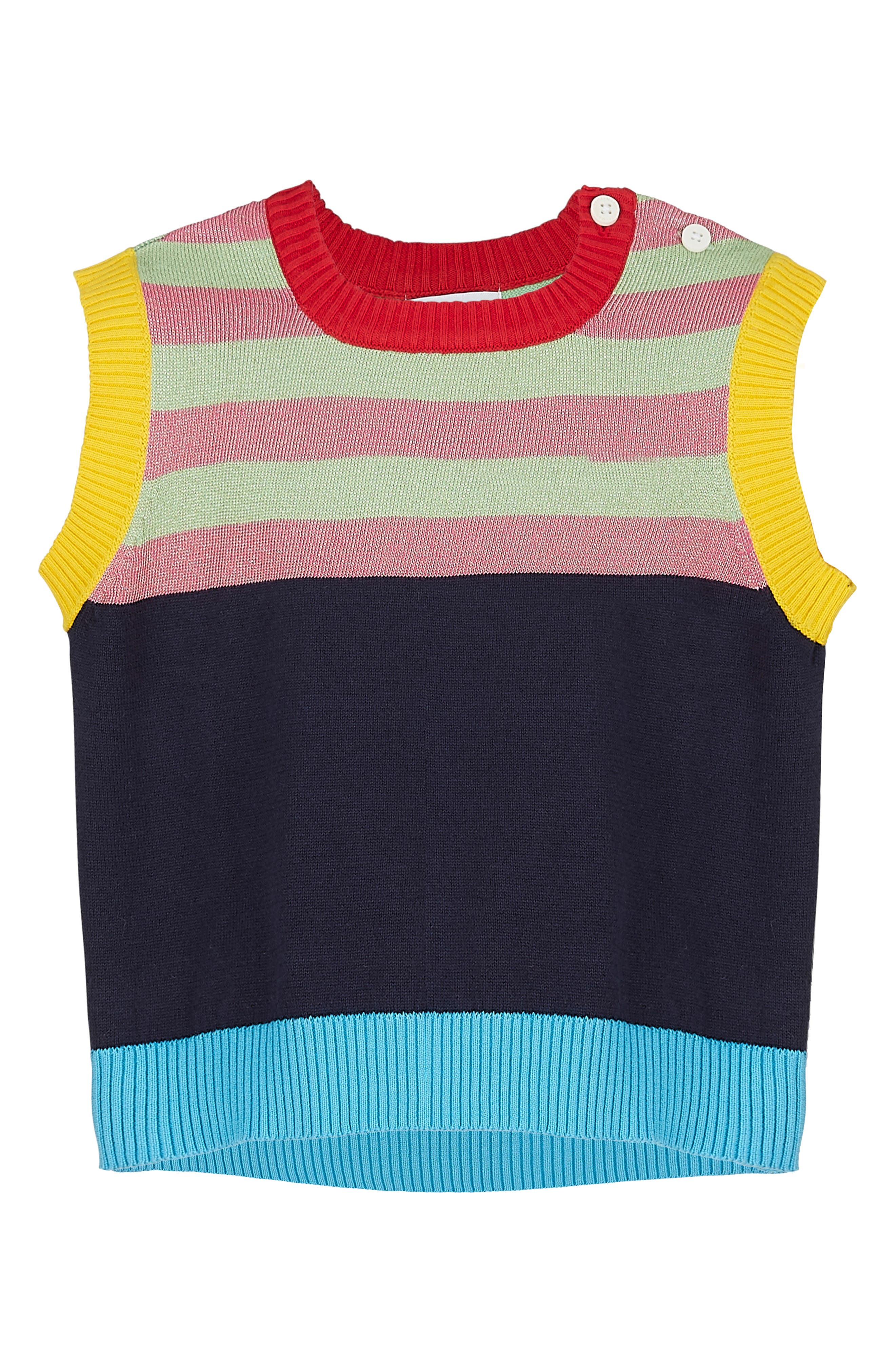 Main Image - Margherita Stripe Knit Vest (Baby Girls)