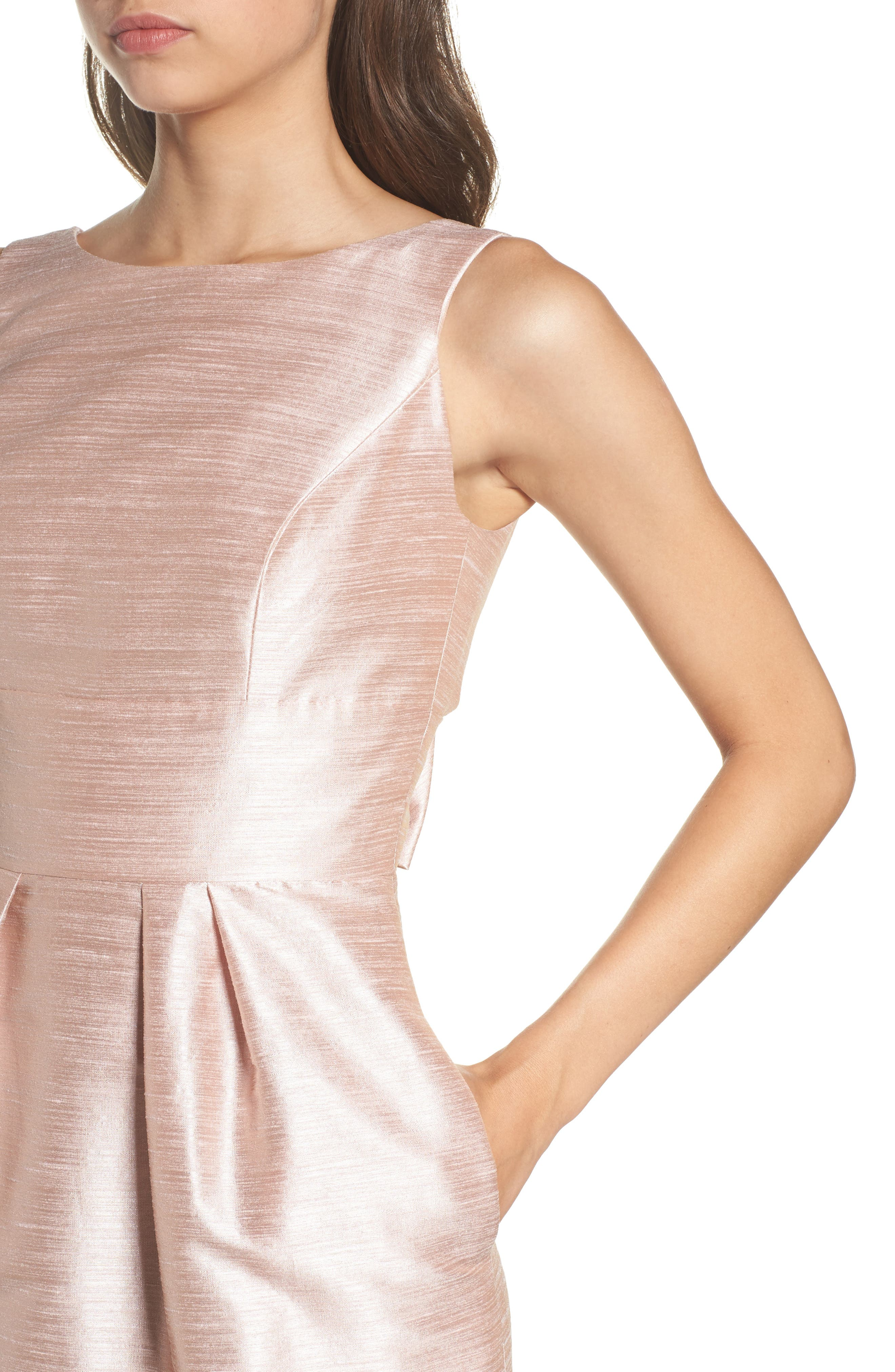 Boatneck Sheath Dress,                             Alternate thumbnail 4, color,                             Pearl Pink