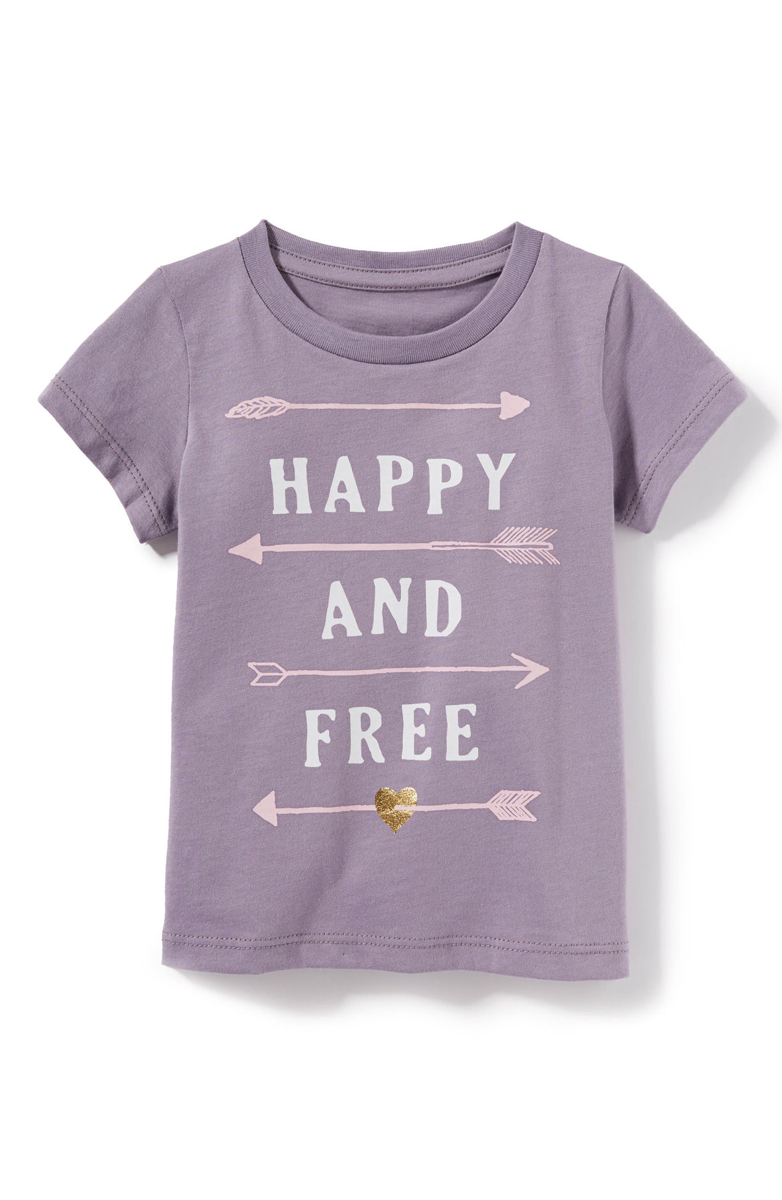 Peek Happy & Free Graphic Tee (Baby Girls)