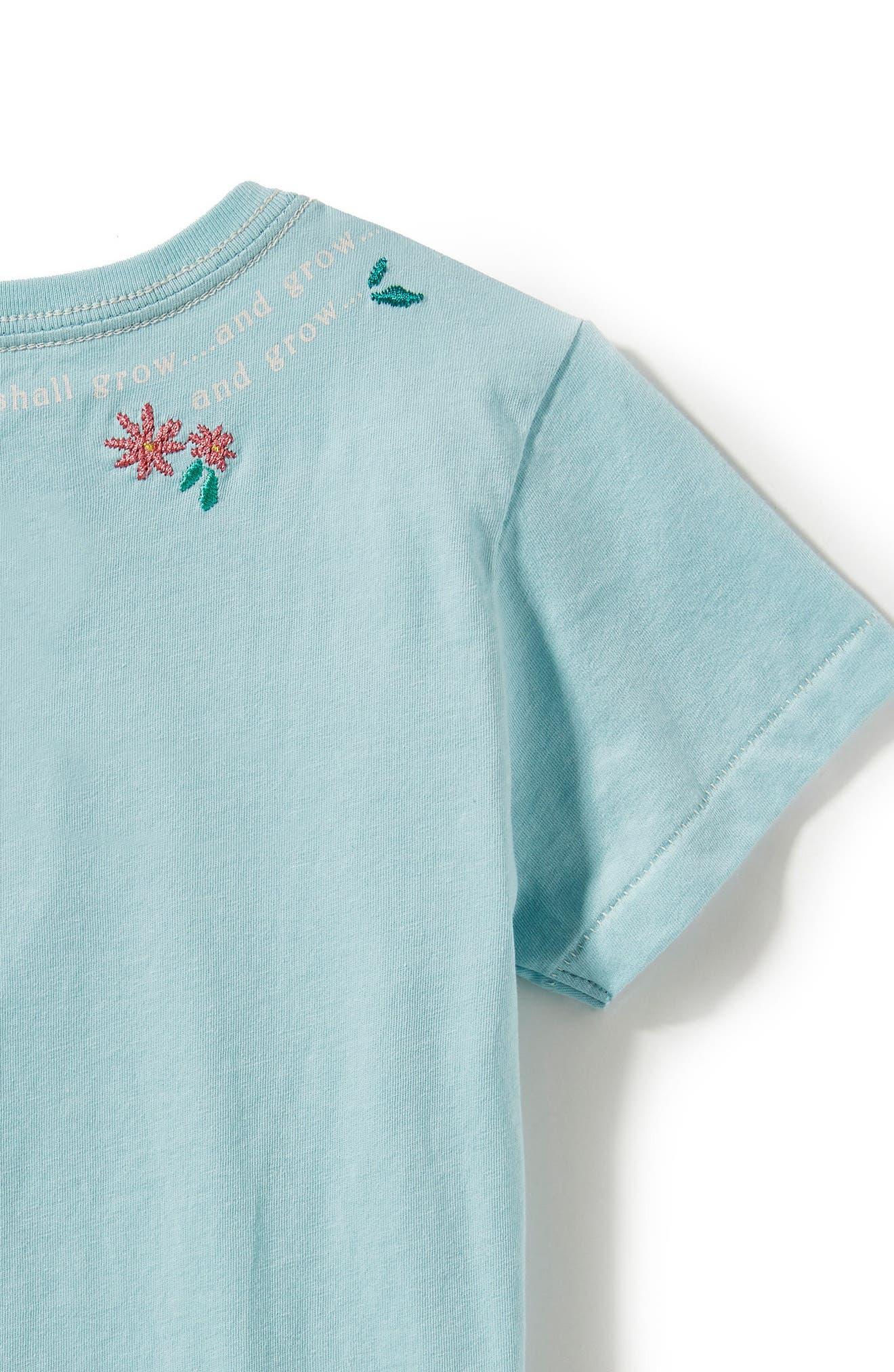 Alternate Image 2  - Peek Adventure Embroidered Tee (Toddler Girls, Little Girls & Big Girls)