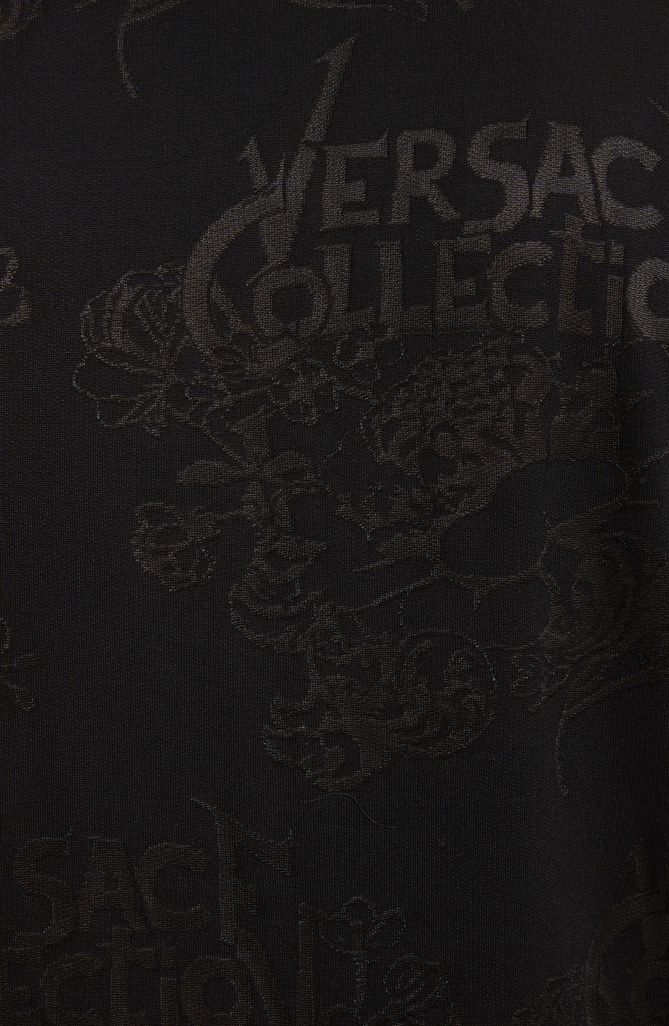 Alternate Image 5  - Versace Collection Tonal Jacquard Polo
