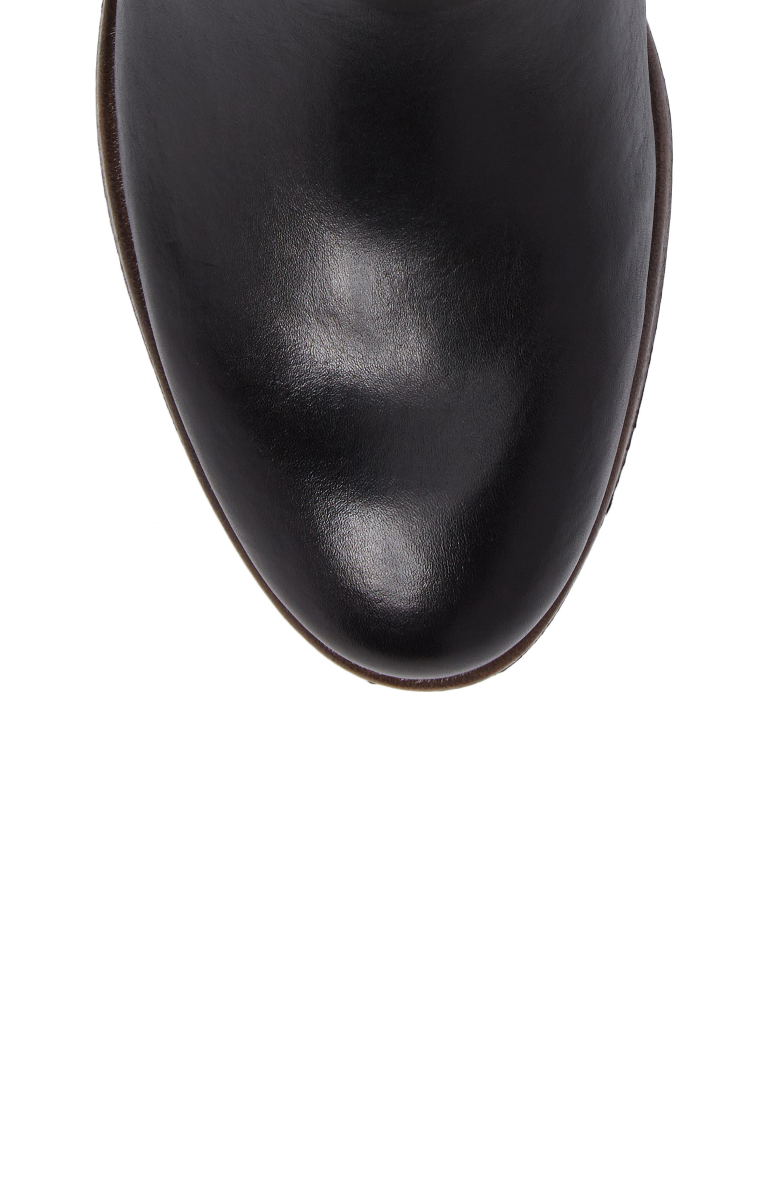 Ordino Bootie,                             Alternate thumbnail 5, color,                             Black Lead Leather