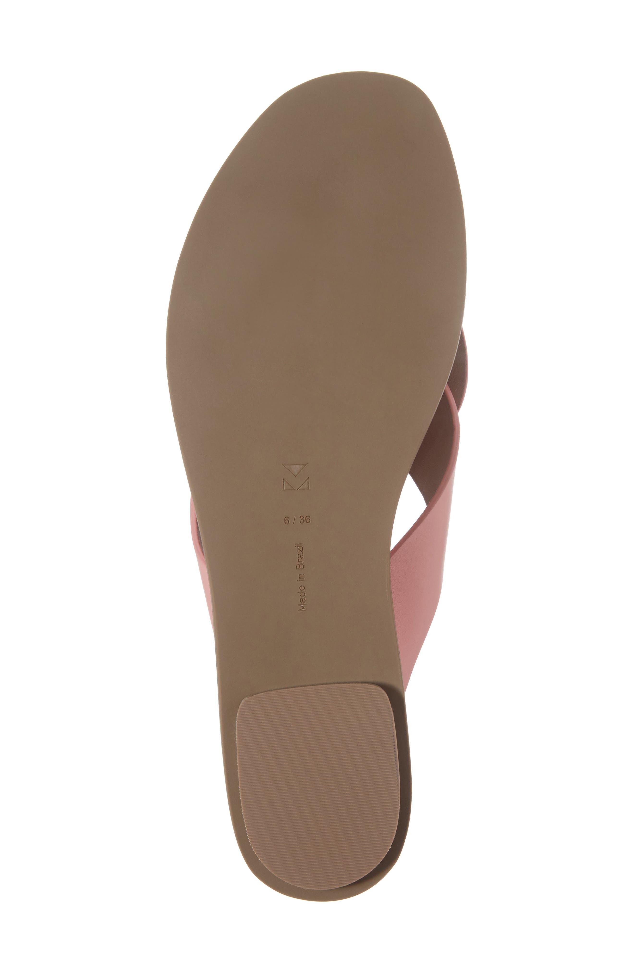 Carlein Slide Sandal,                             Alternate thumbnail 7, color,                             Pink Peony Leather
