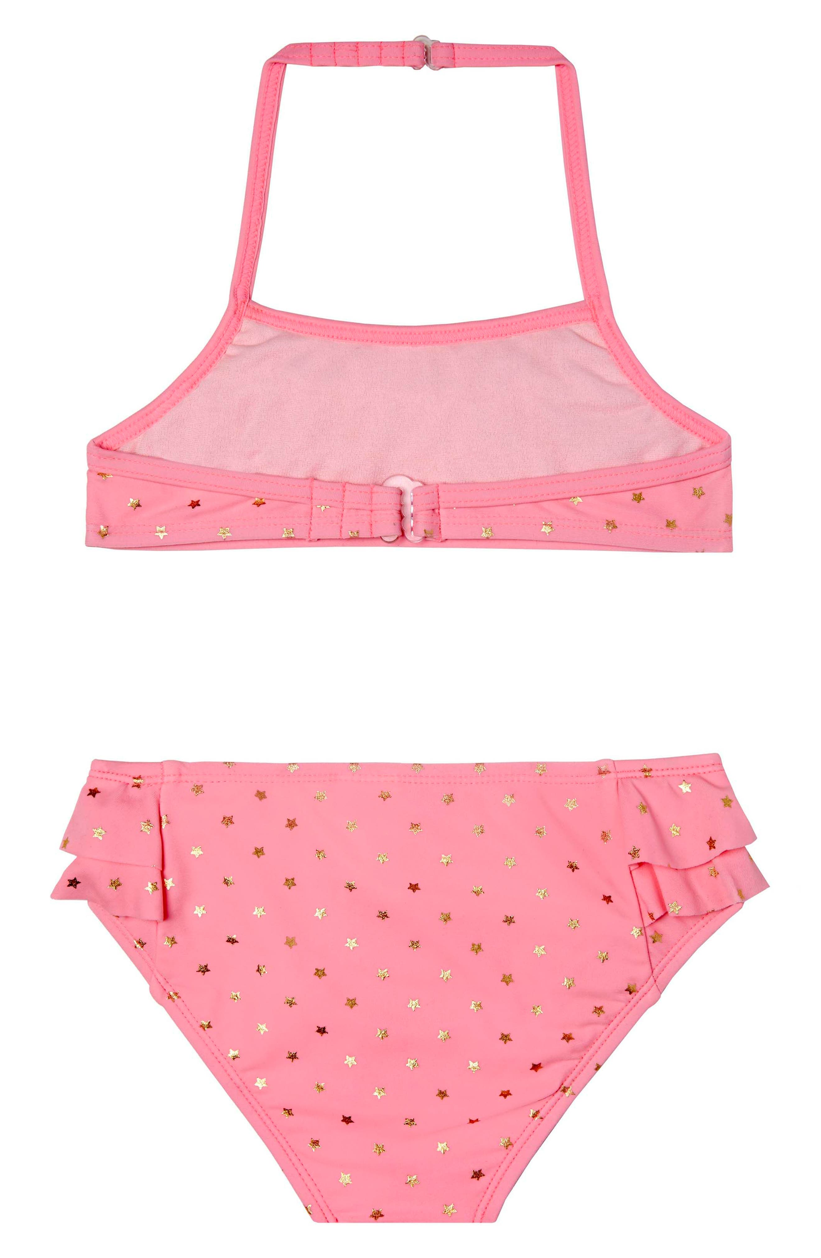 Twinkle Star Two-Piece Swimsuit,                             Alternate thumbnail 2, color,                             Pink