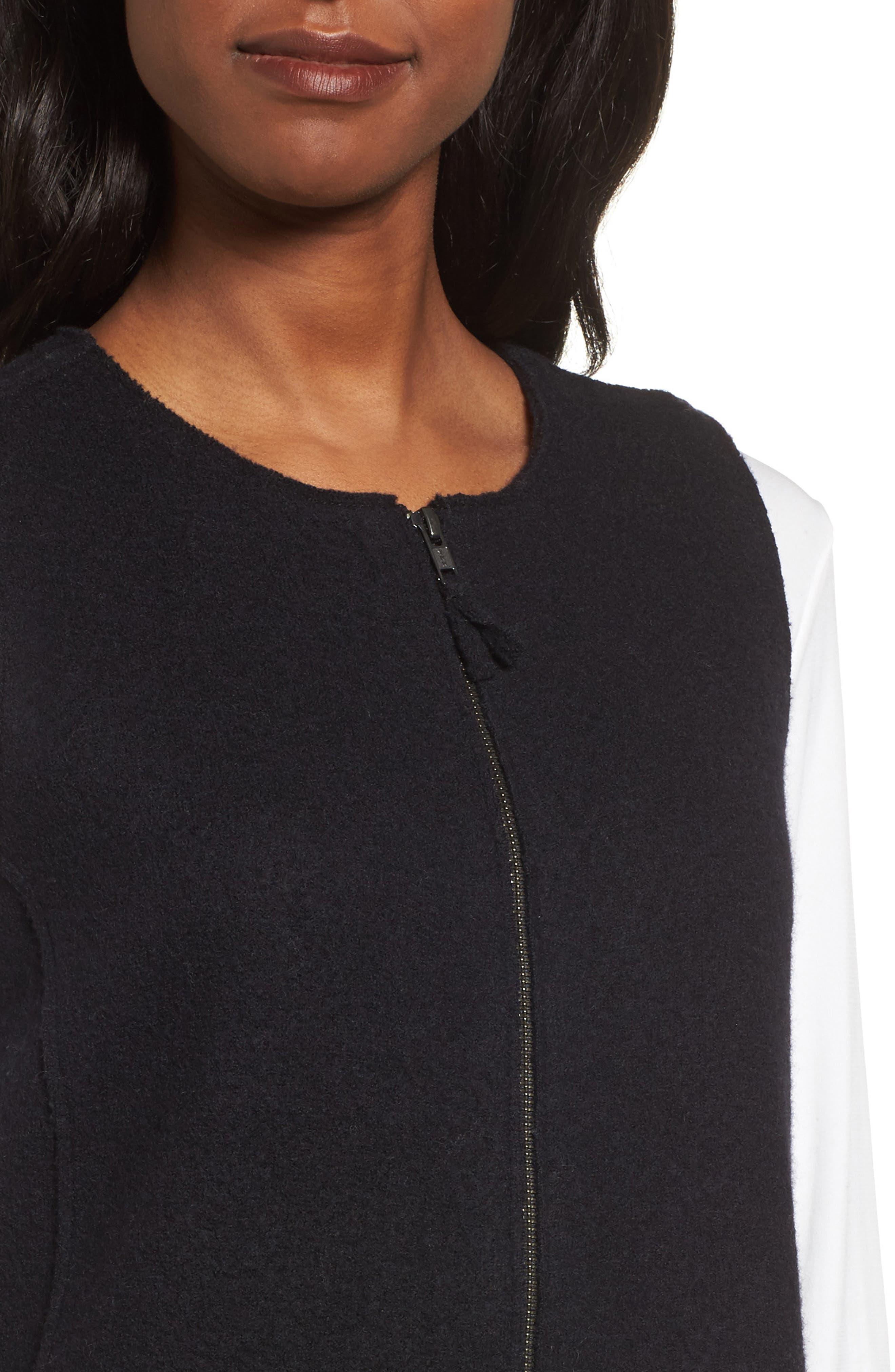 Alternate Image 4  - Eileen Fisher Long Boiled Wool Vest (Regular & Petite)