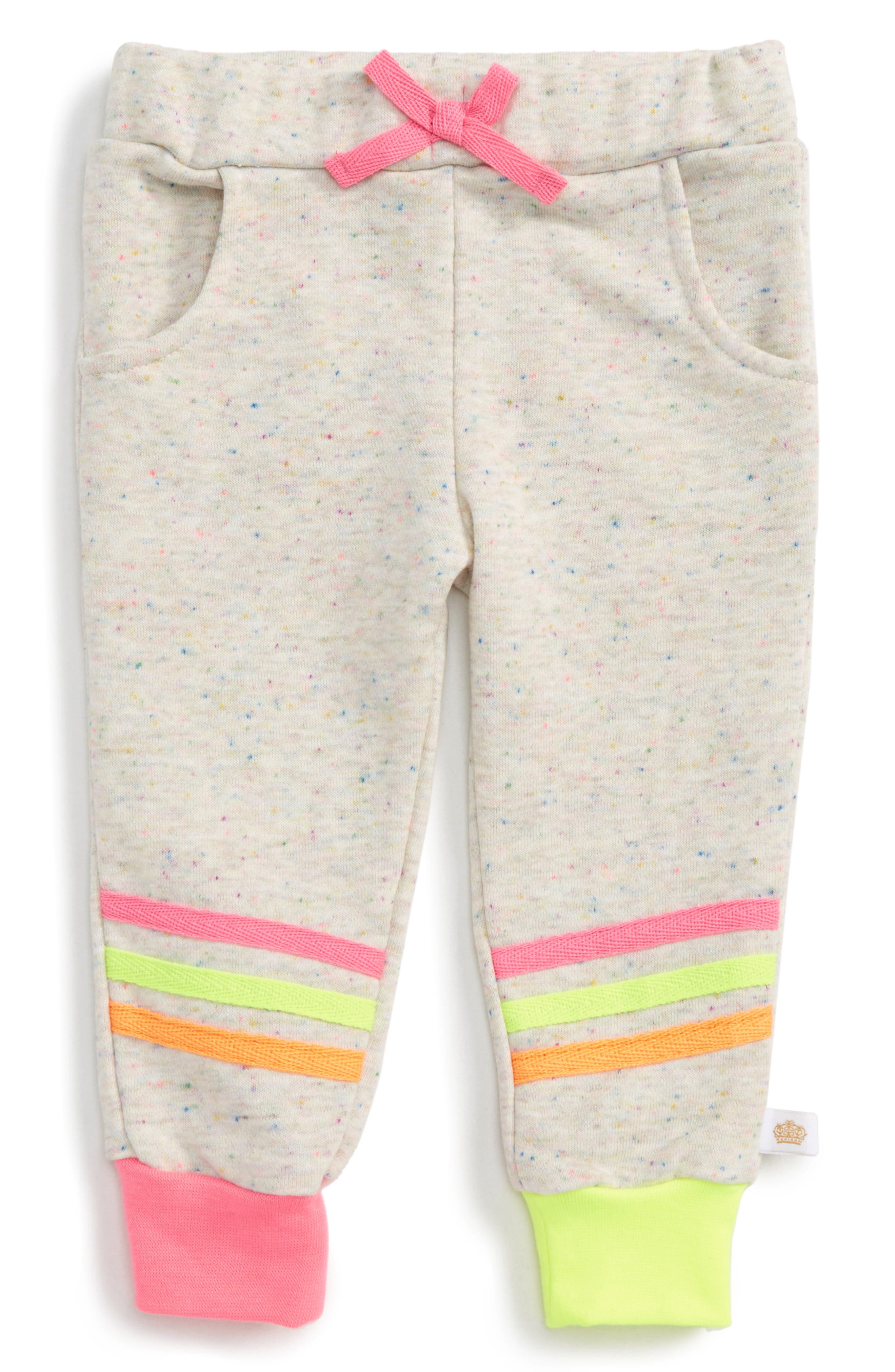 Alternate Image 1 Selected - Rosie Pope Confetti Sweatpants (Baby Girls)
