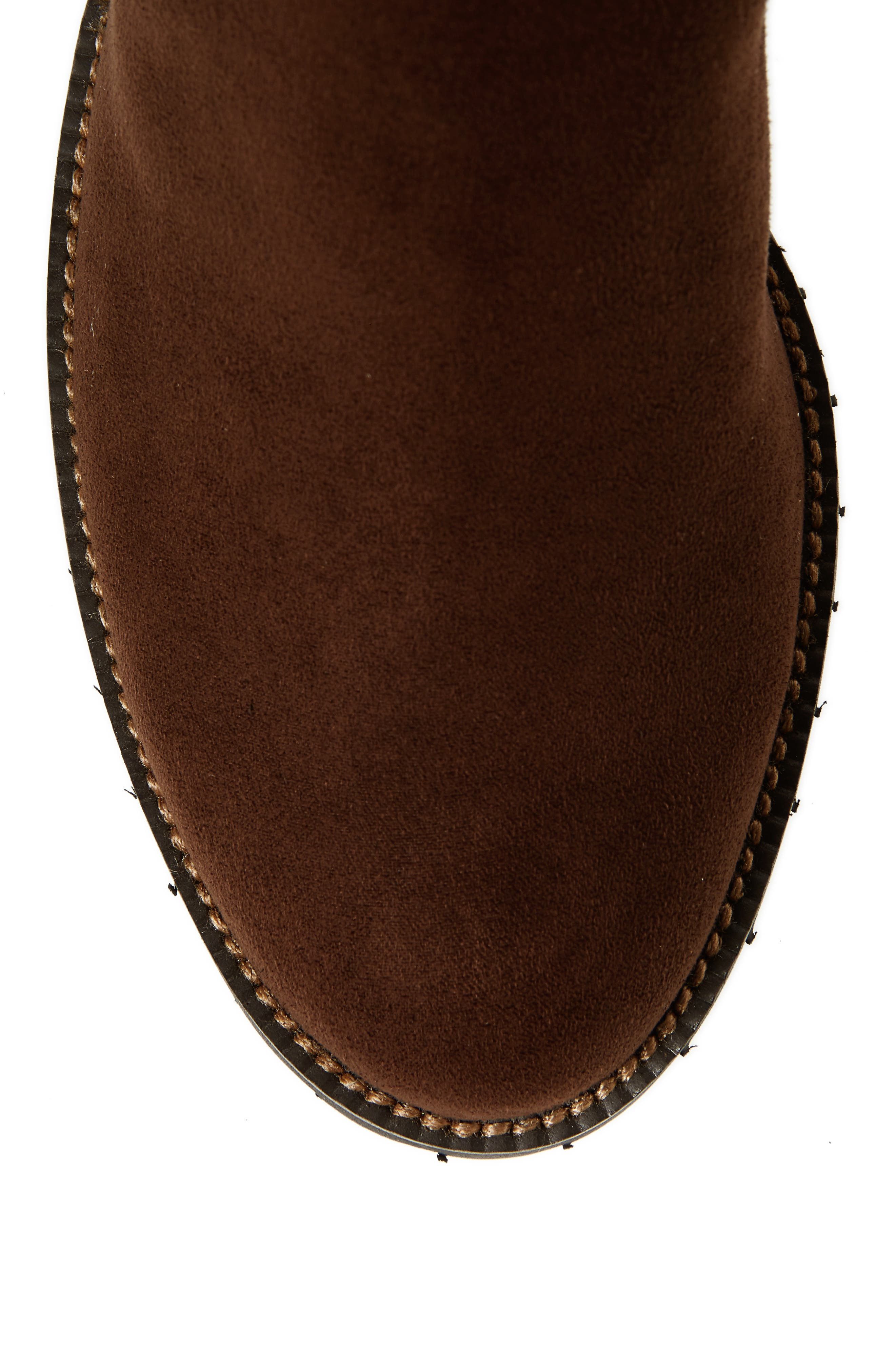 Alanis II Tall Boot,                             Alternate thumbnail 5, color,                             Brown Suede