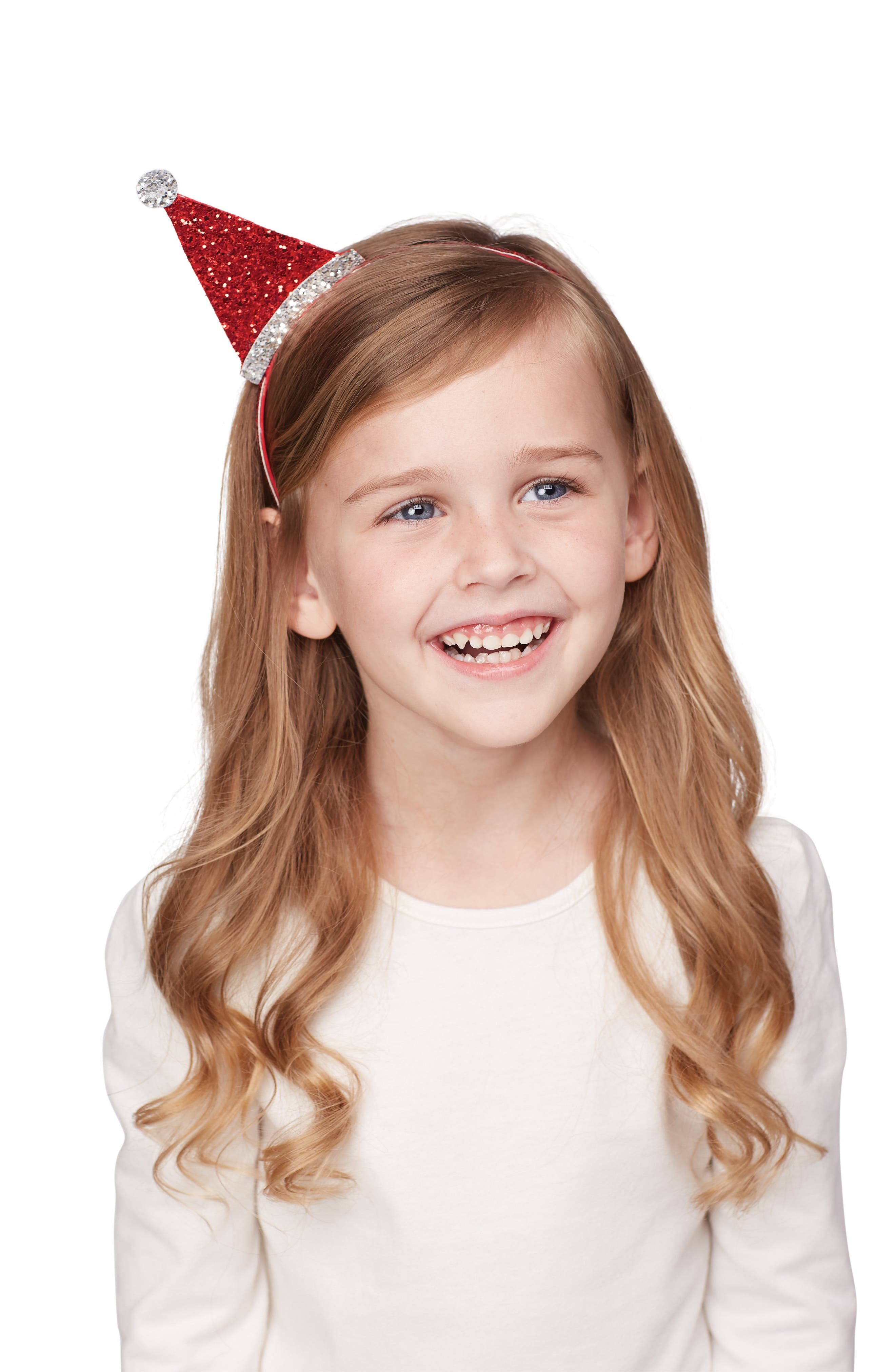 Christmas Dazzle Headband,                             Alternate thumbnail 2, color,                             Red