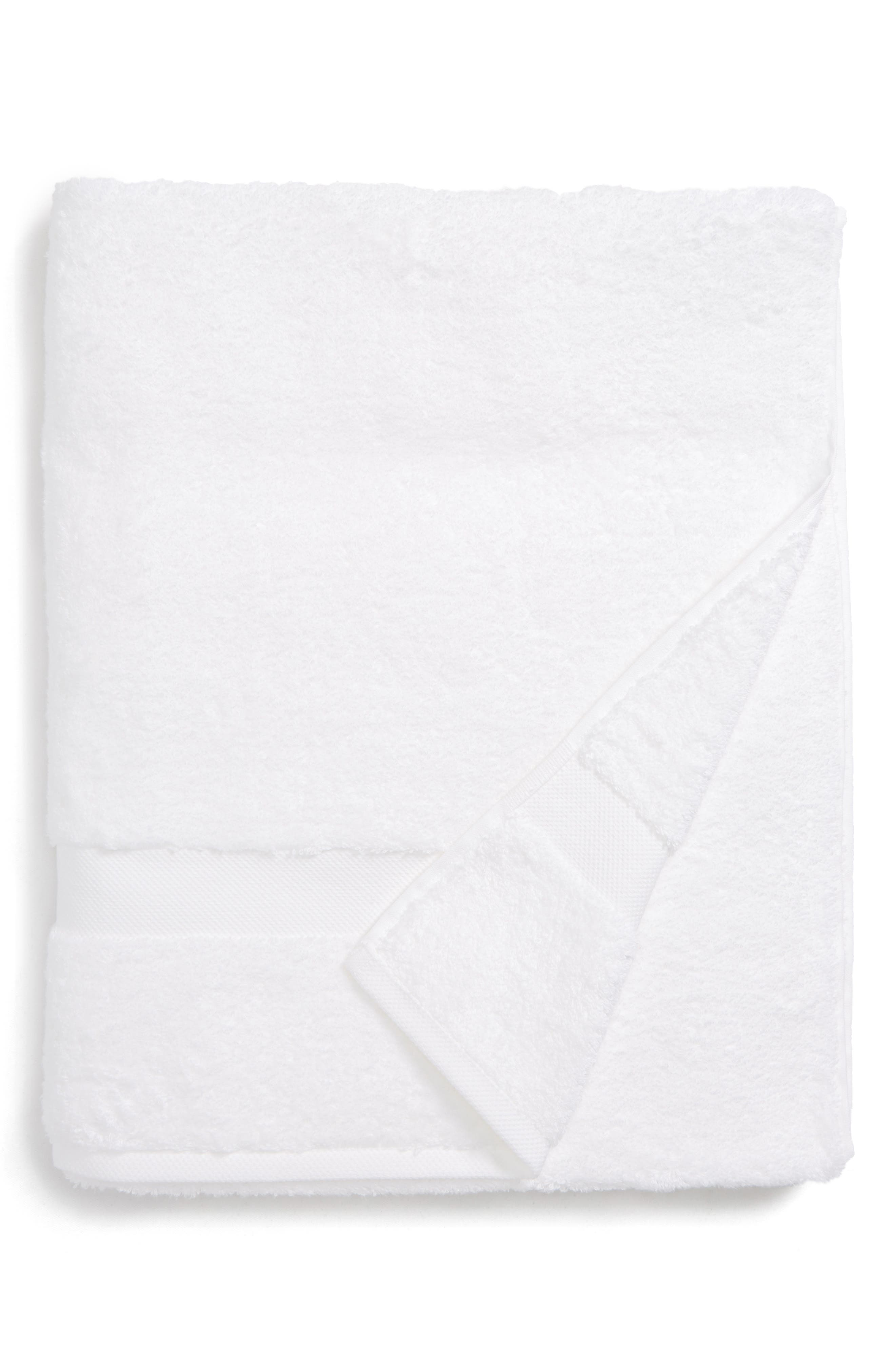 Lotus Bath Towel,                             Main thumbnail 1, color,                             White