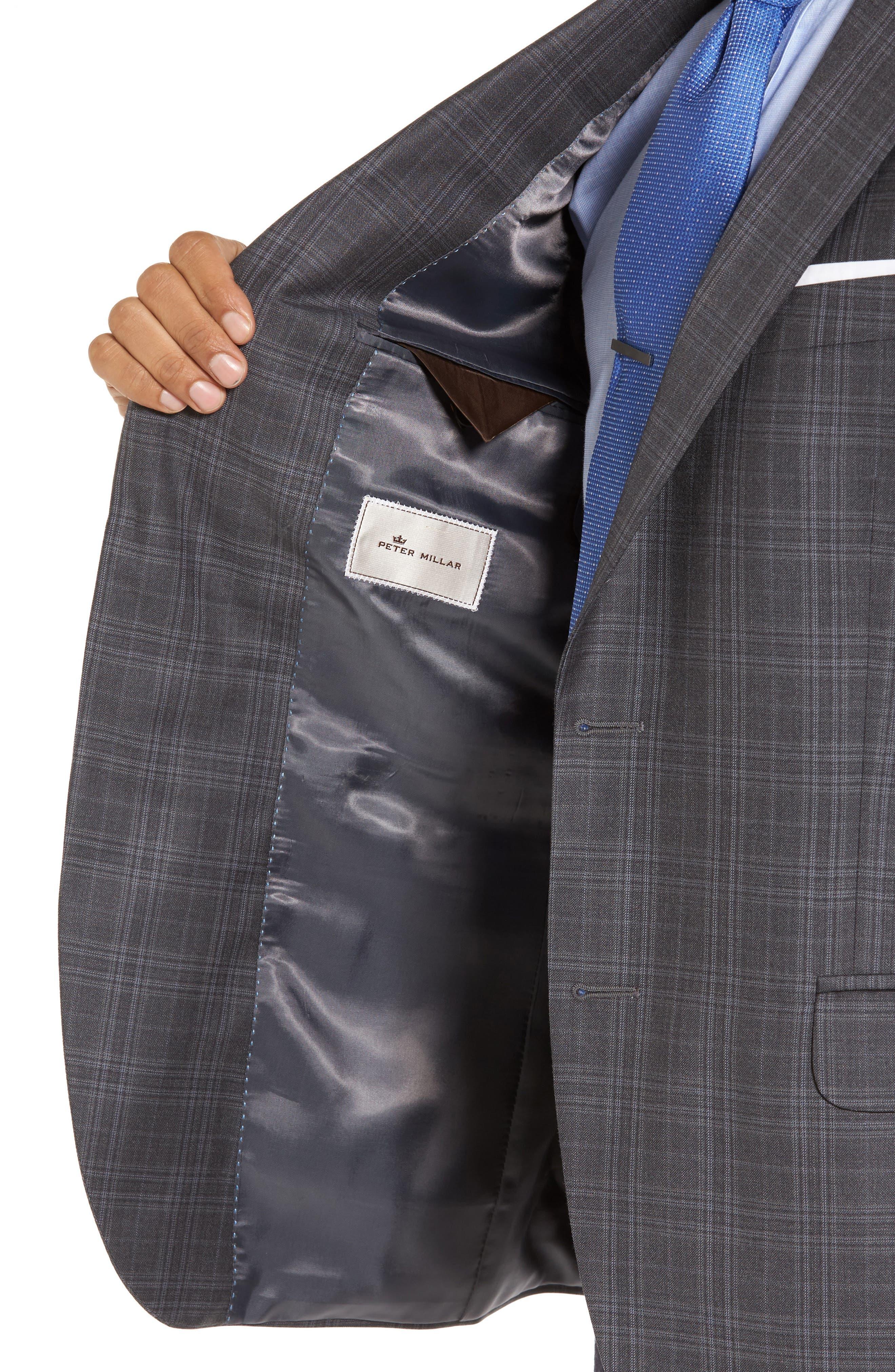Alternate Image 4  - Peter Millar Flynn Classic Fit Plaid Wool Sport Coat