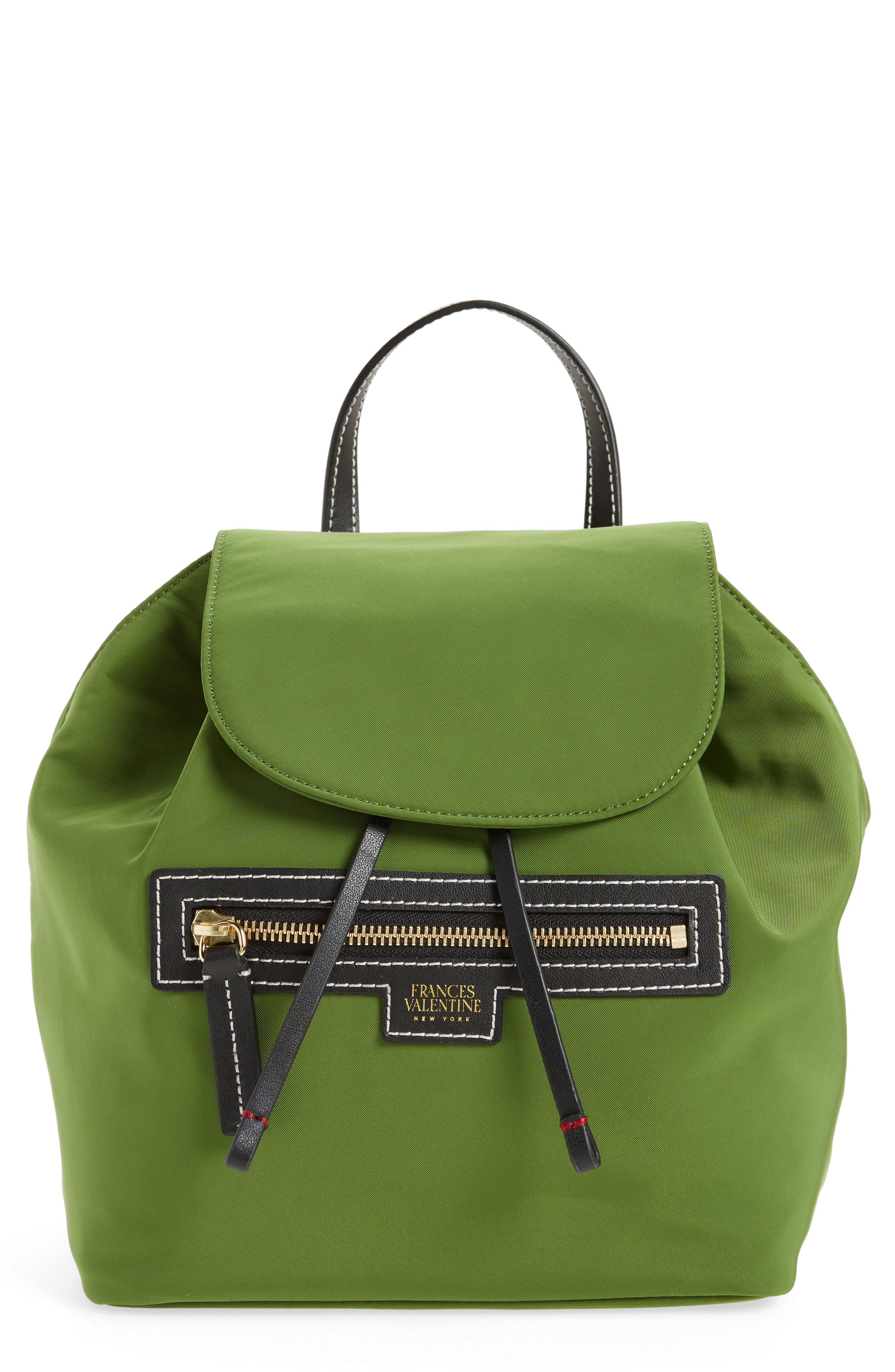 Nylon Backpack,                         Main,                         color, Grass