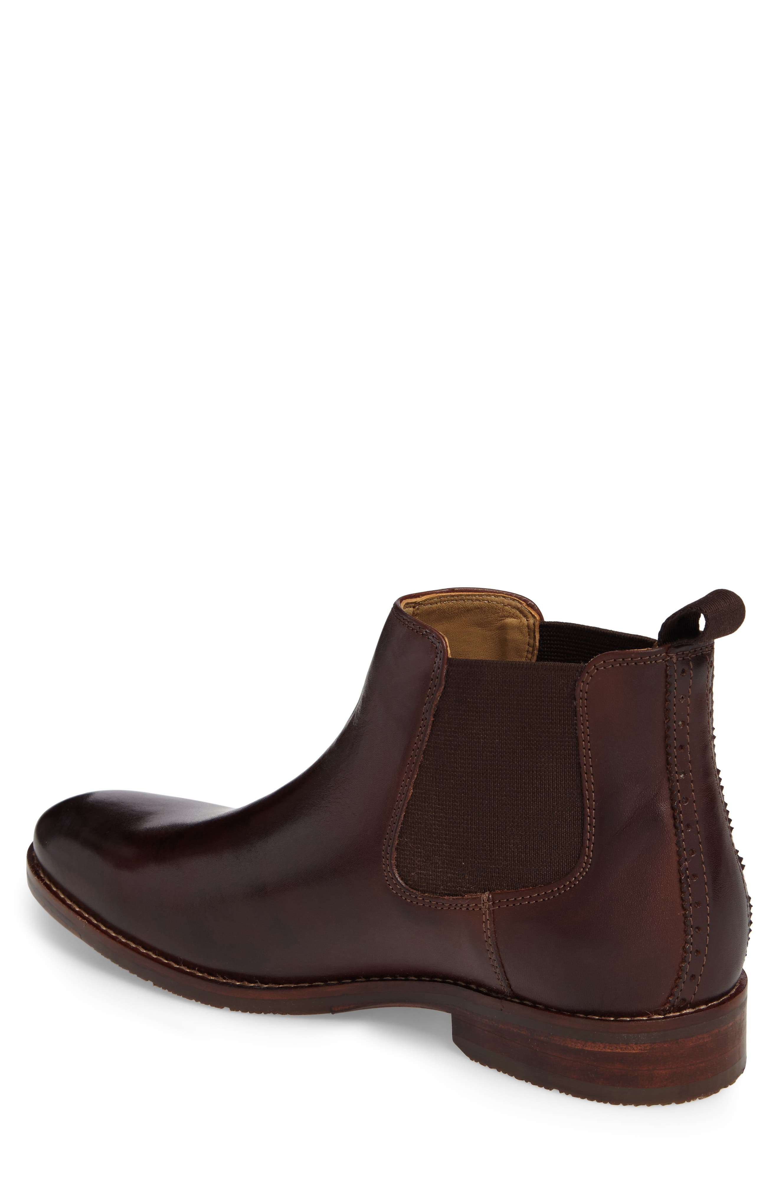 Garner Chelsea Boot,                             Alternate thumbnail 2, color,                             Mahogany Leather