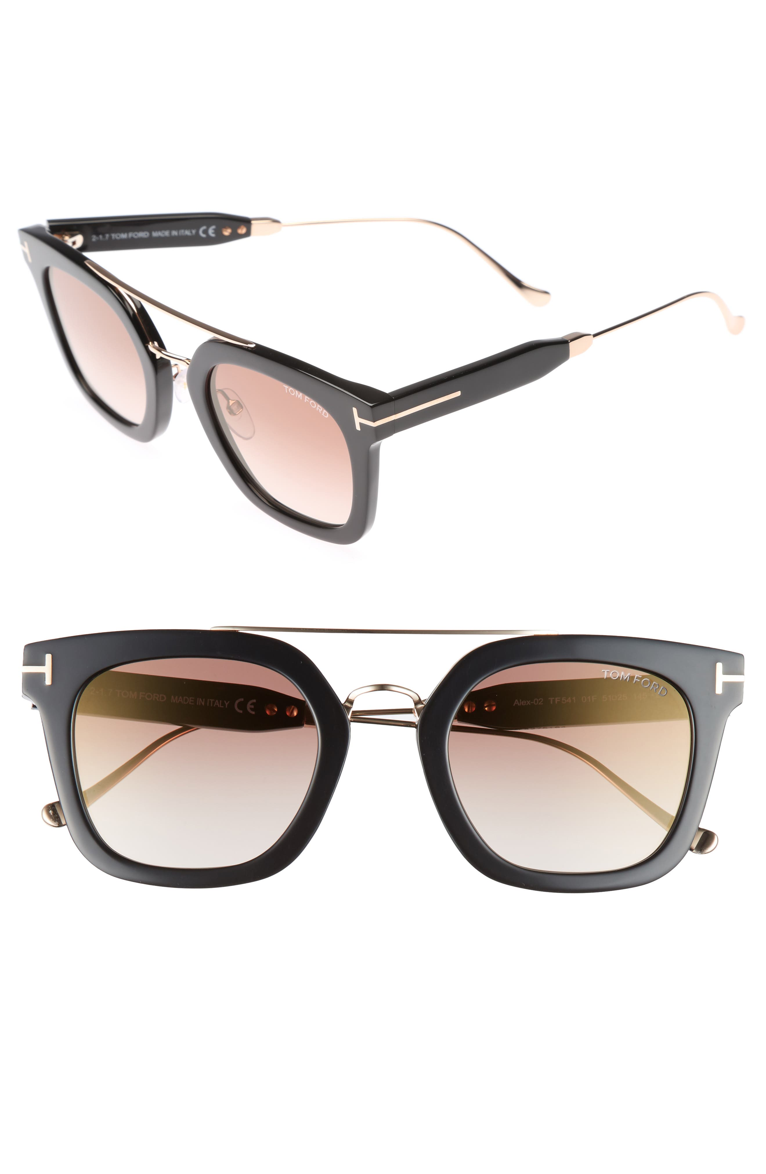 Main Image - Tom Ford Alex 51mm Sunglasses