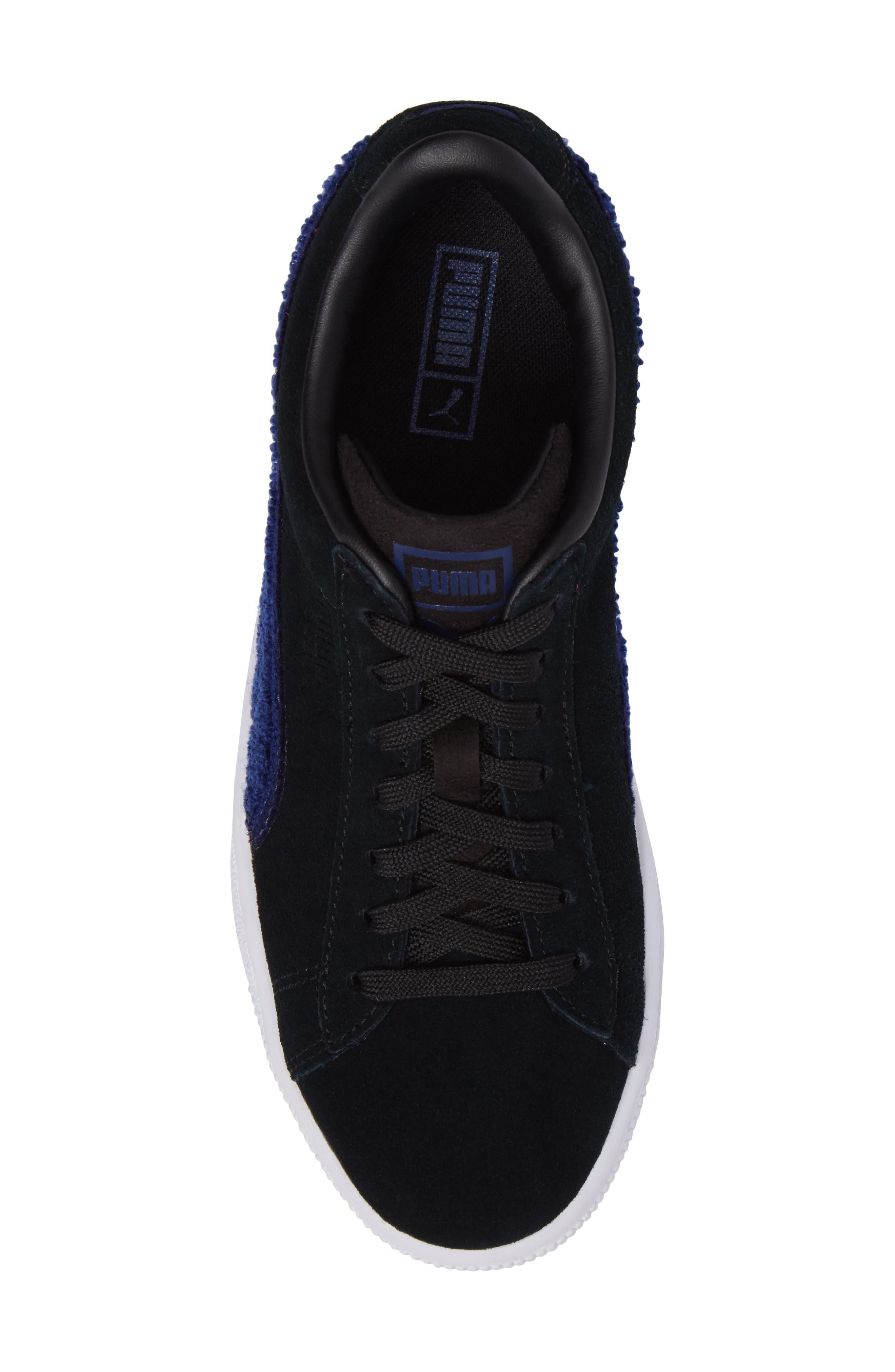 Classic Terry Jr Sneaker,                             Alternate thumbnail 5, color,                             Black