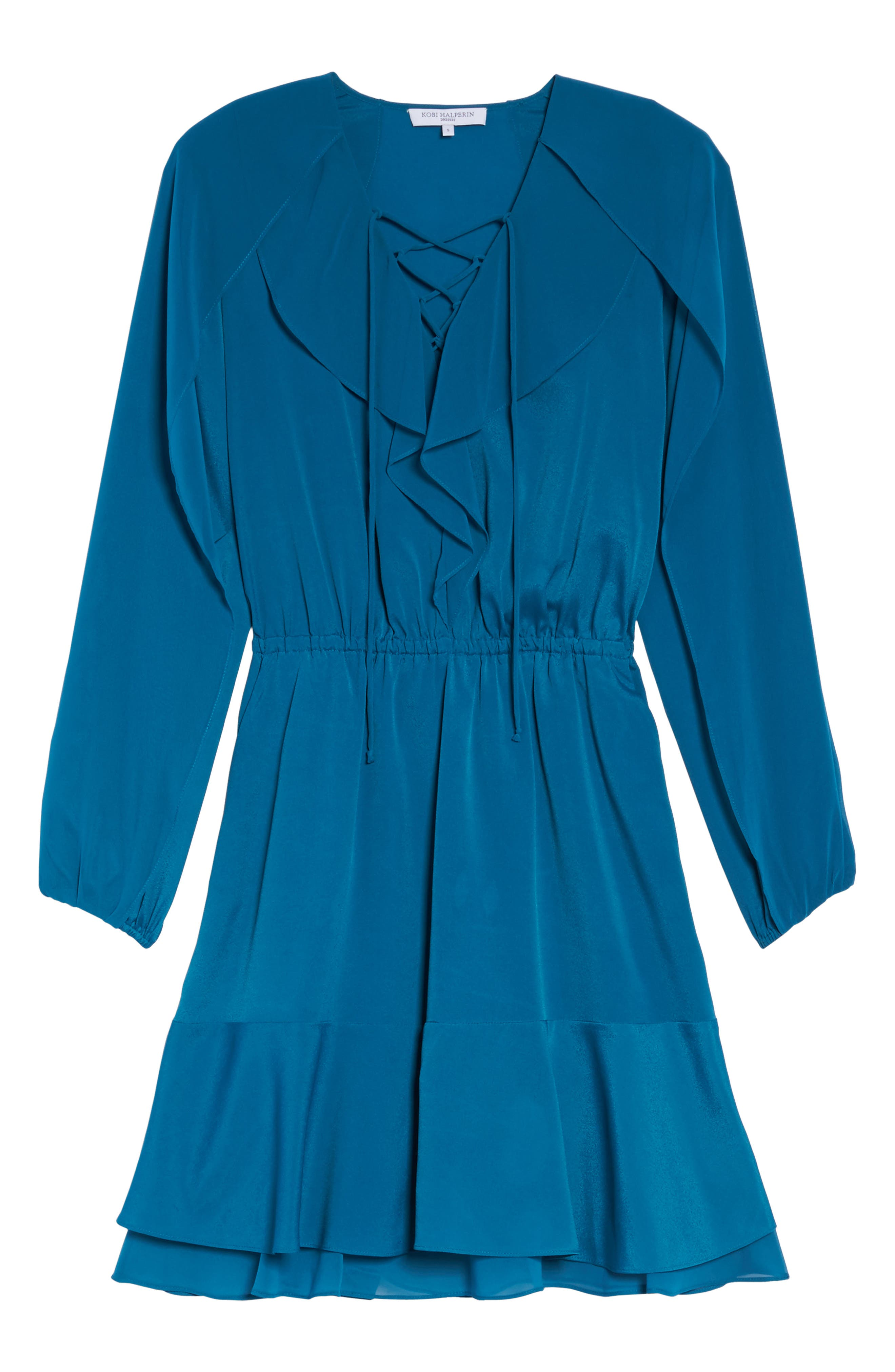 Alternate Image 6  - Kobi Halperin Keely Ruffle Blouson Dress (Nordstrom Exclusive)