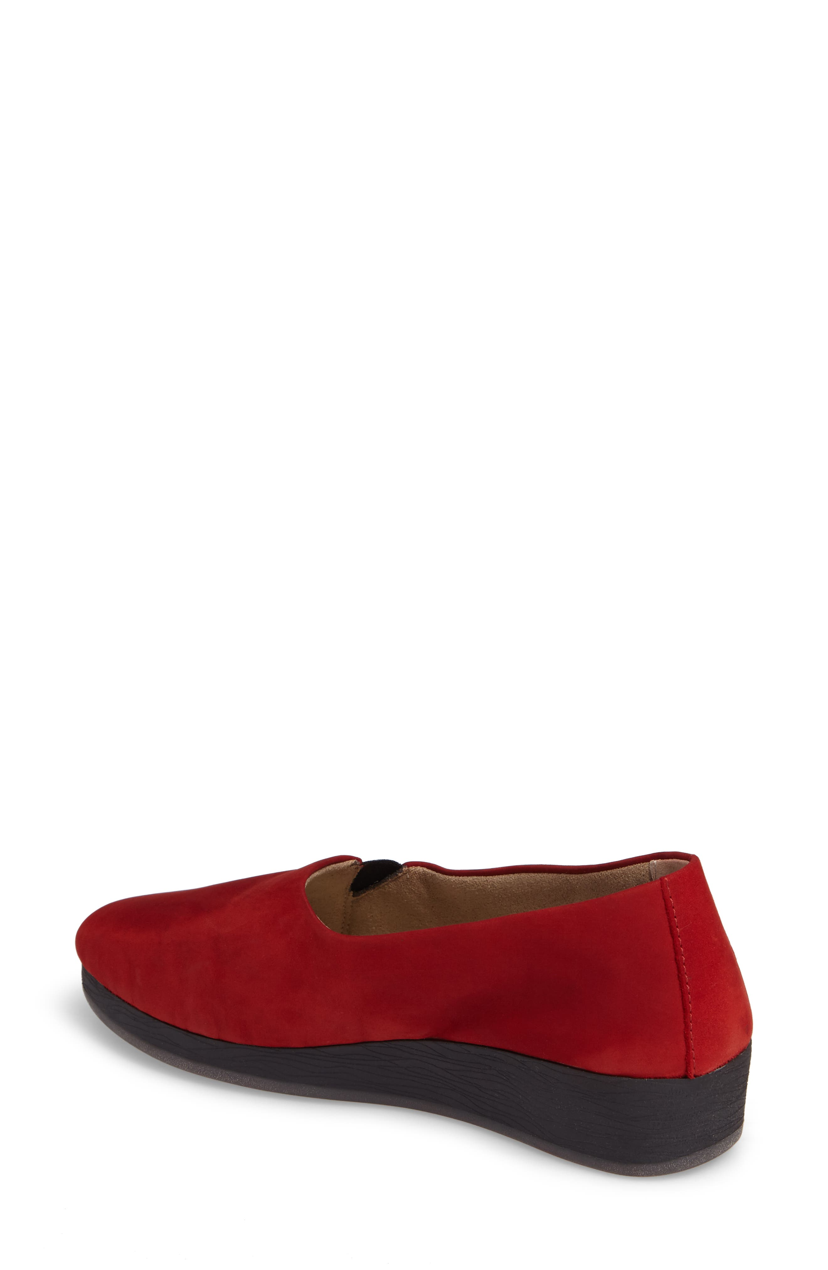 Ako Slip-On,                             Alternate thumbnail 2, color,                             Red Nubuck Leather