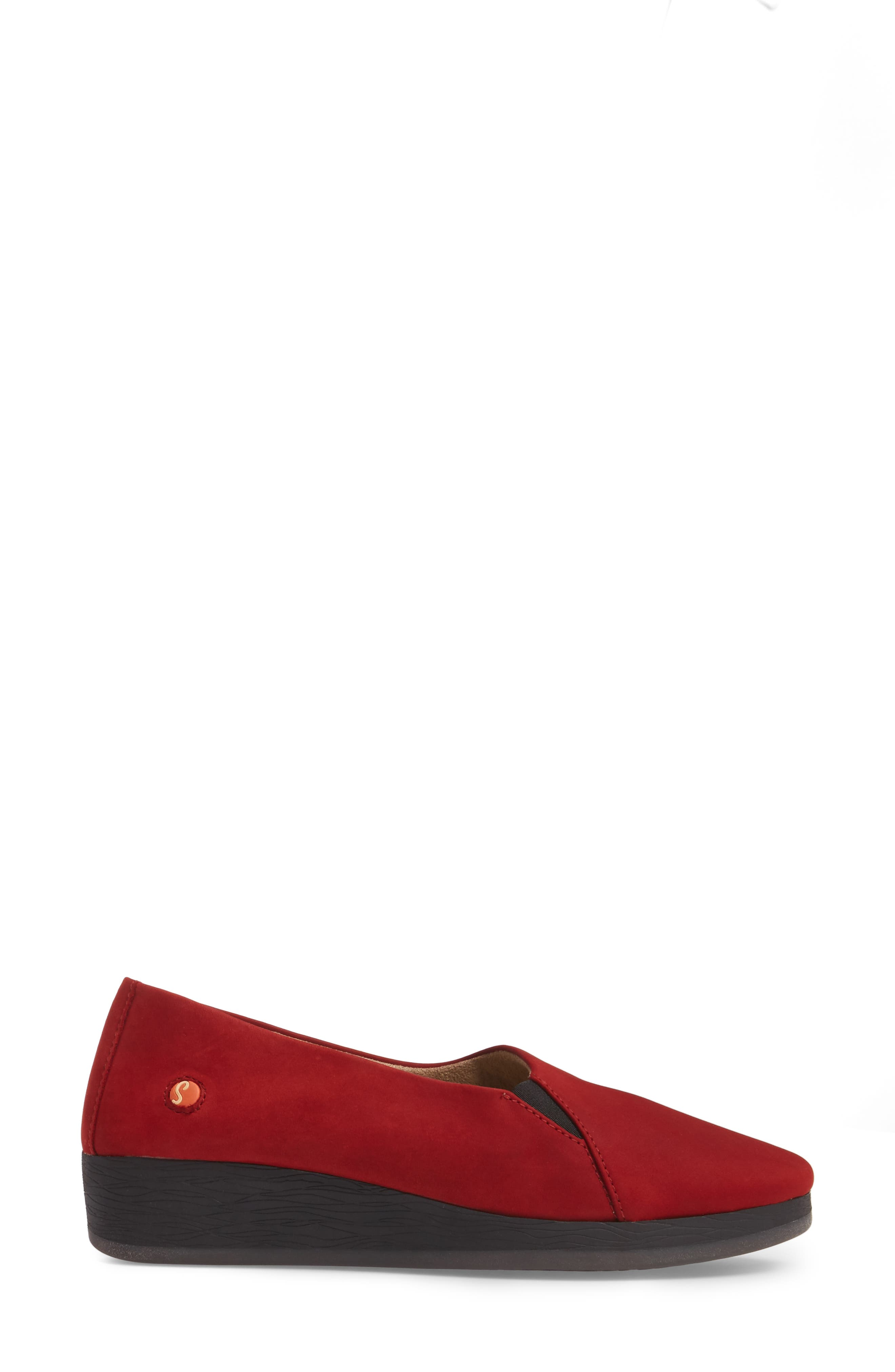 Ako Slip-On,                             Alternate thumbnail 3, color,                             Red Nubuck Leather