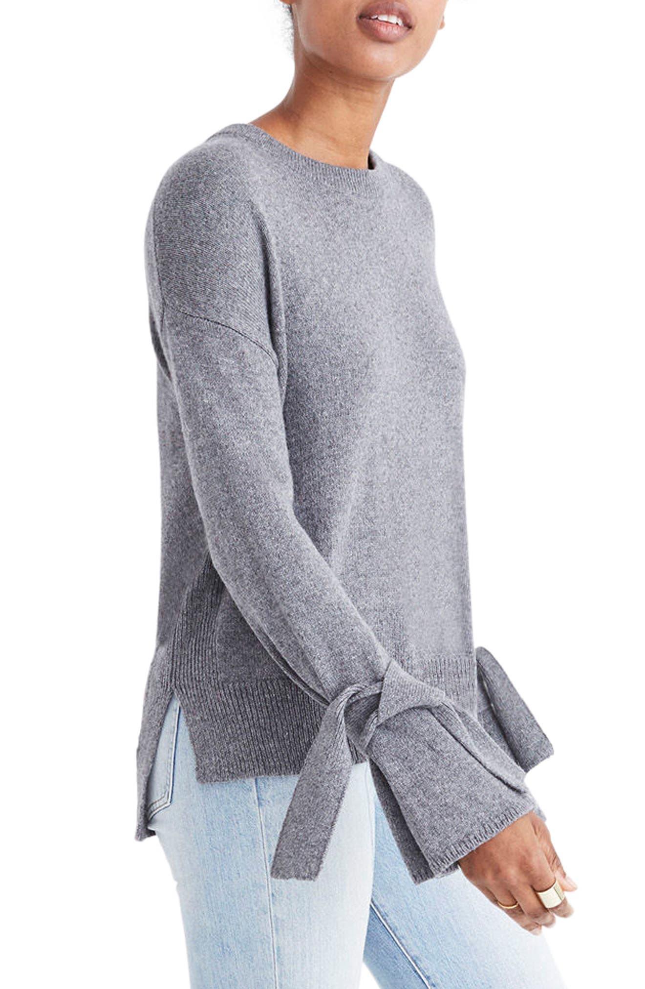 Alternate Image 3  - Madewell Tie Cuff Pullover Sweater