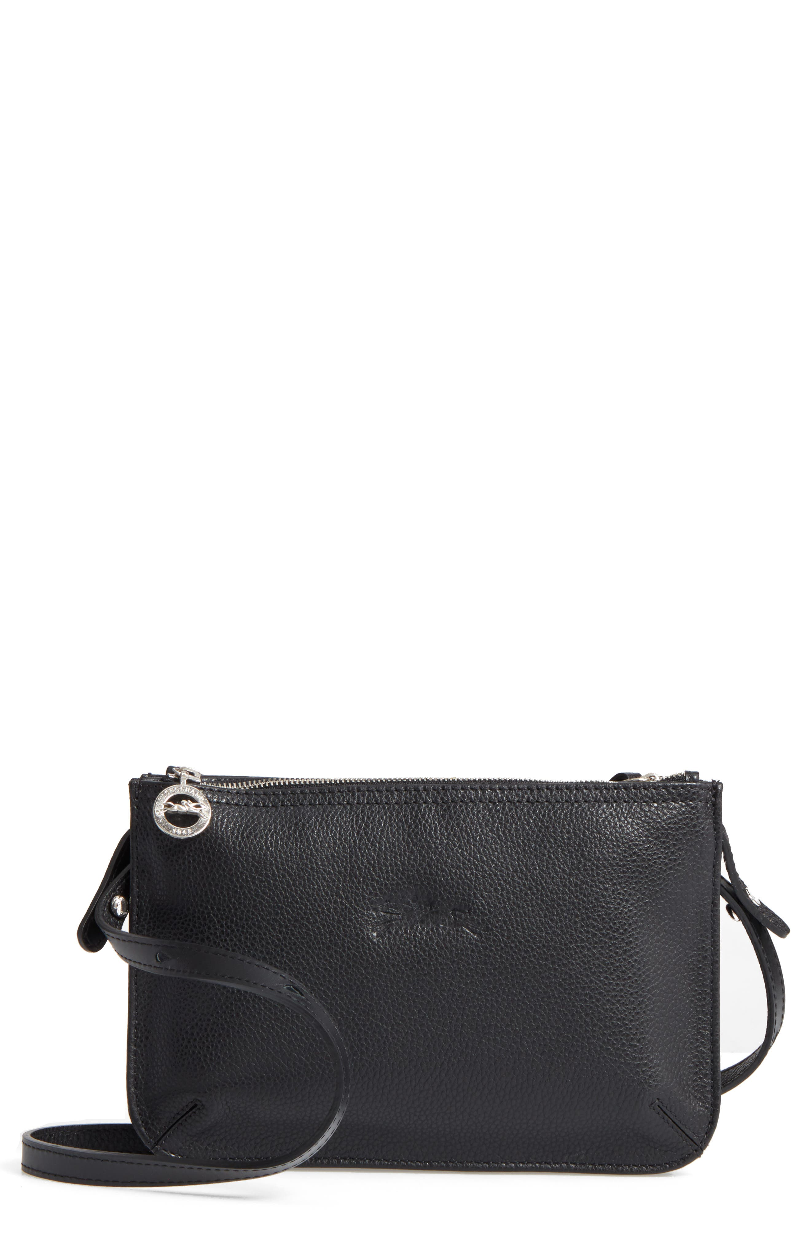Alternate Image 1 Selected - Longchamp Le Foulonne Leather Crossbody Bag