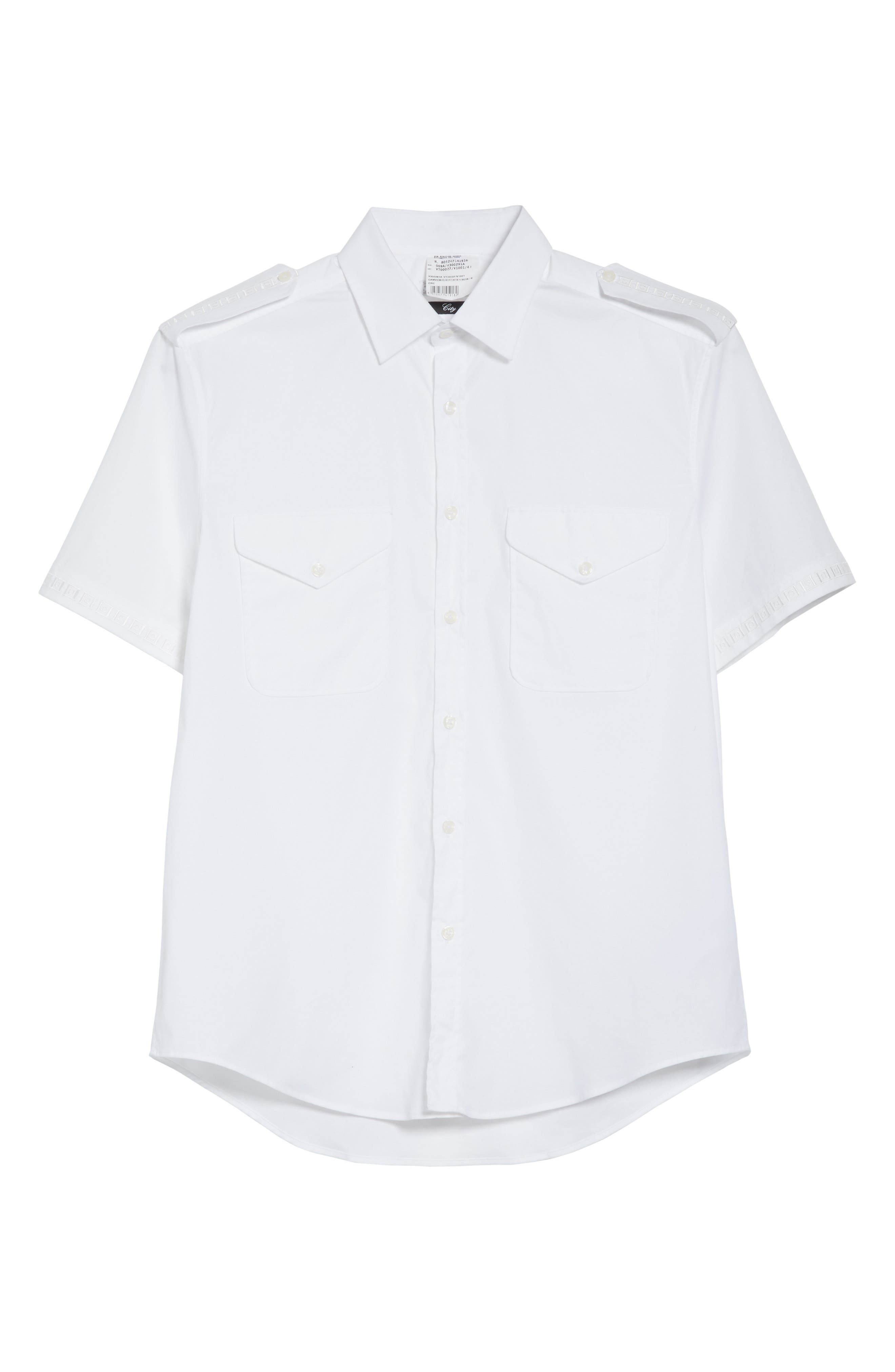 Alternate Image 6  - Versace Collection Short Sleeve Military Shirt