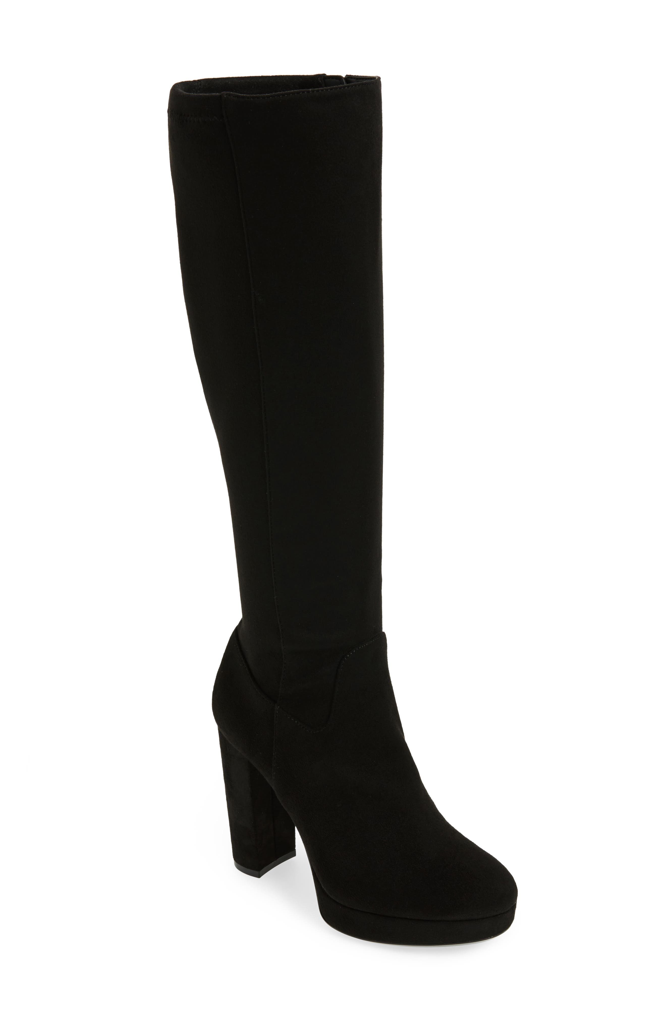 Mailia Tall Boot,                         Main,                         color, Black Suede