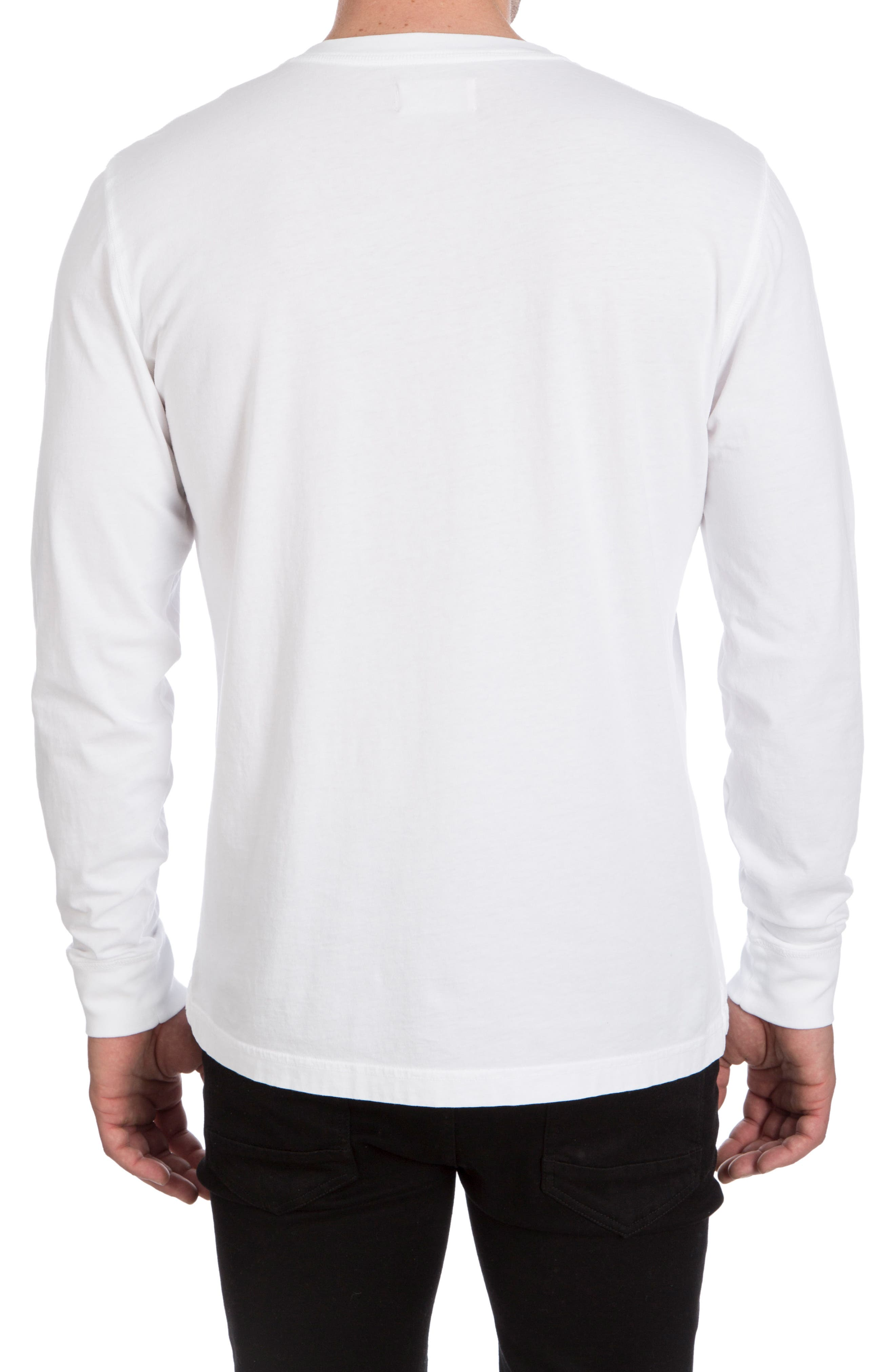 Biltmore Henley T-Shirt,                             Alternate thumbnail 2, color,                             White