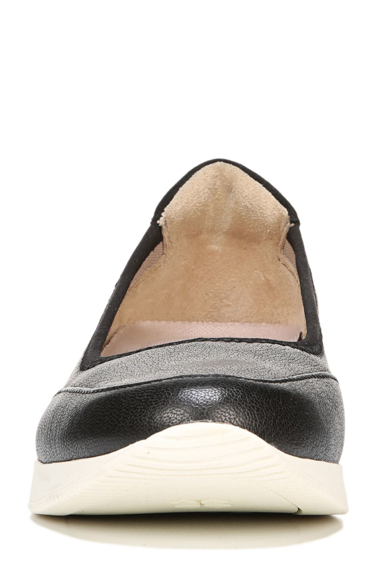 Junction Slip-On,                             Alternate thumbnail 4, color,                             Black Leather