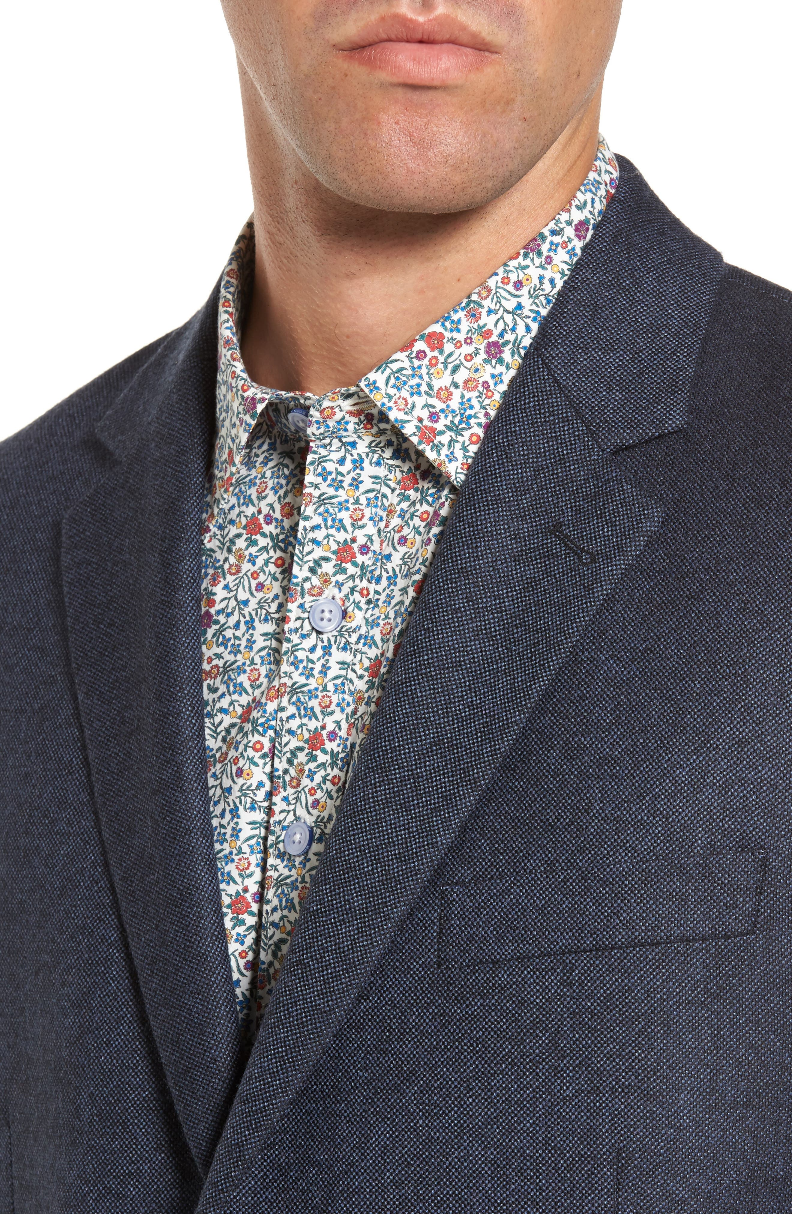Slingsby Virgin Wool Sport Coat,                             Alternate thumbnail 4, color,                             Twilight